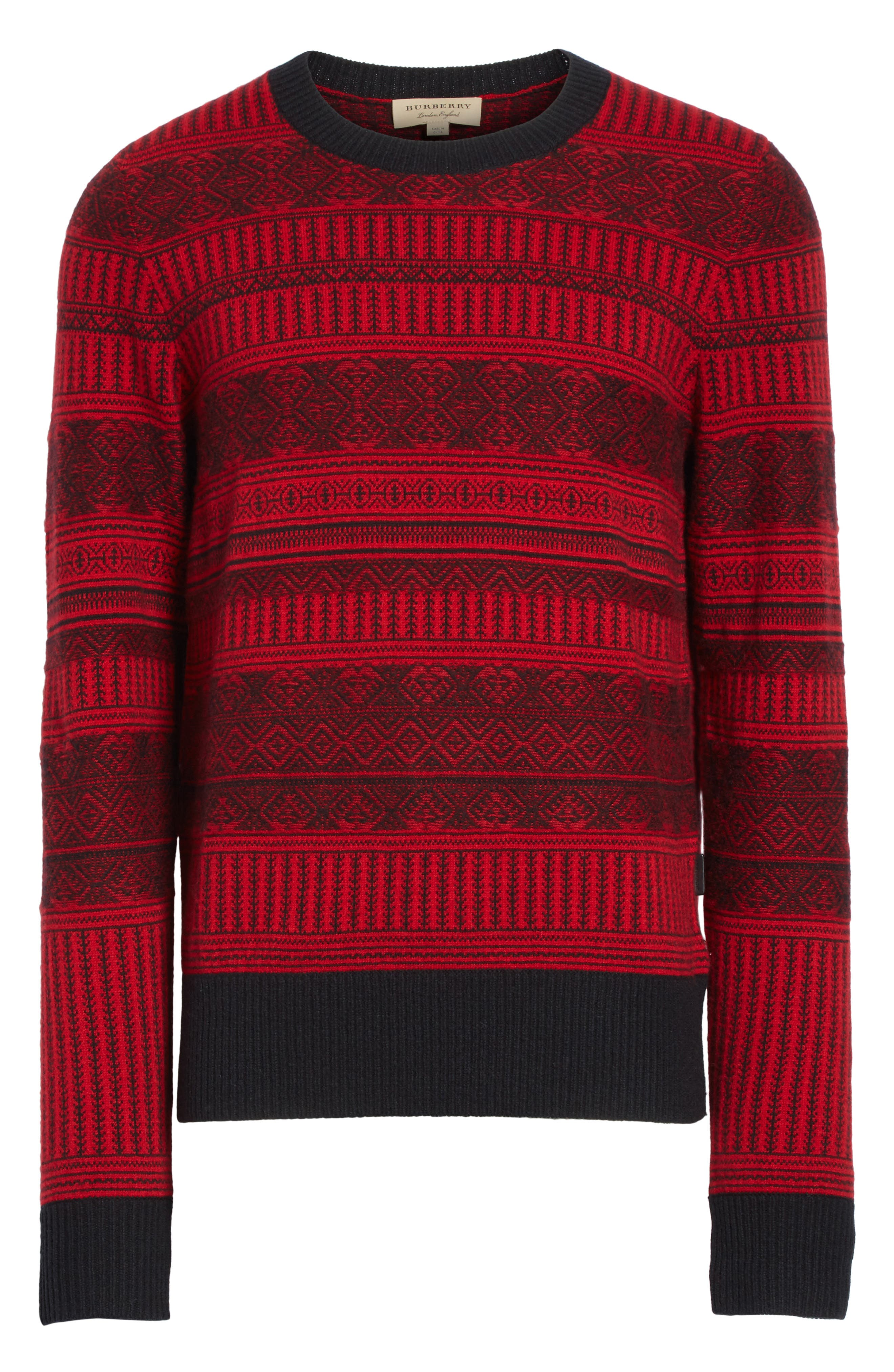 Tredway Wool & Cashmere Sweater,                             Alternate thumbnail 6, color,                             Military Red