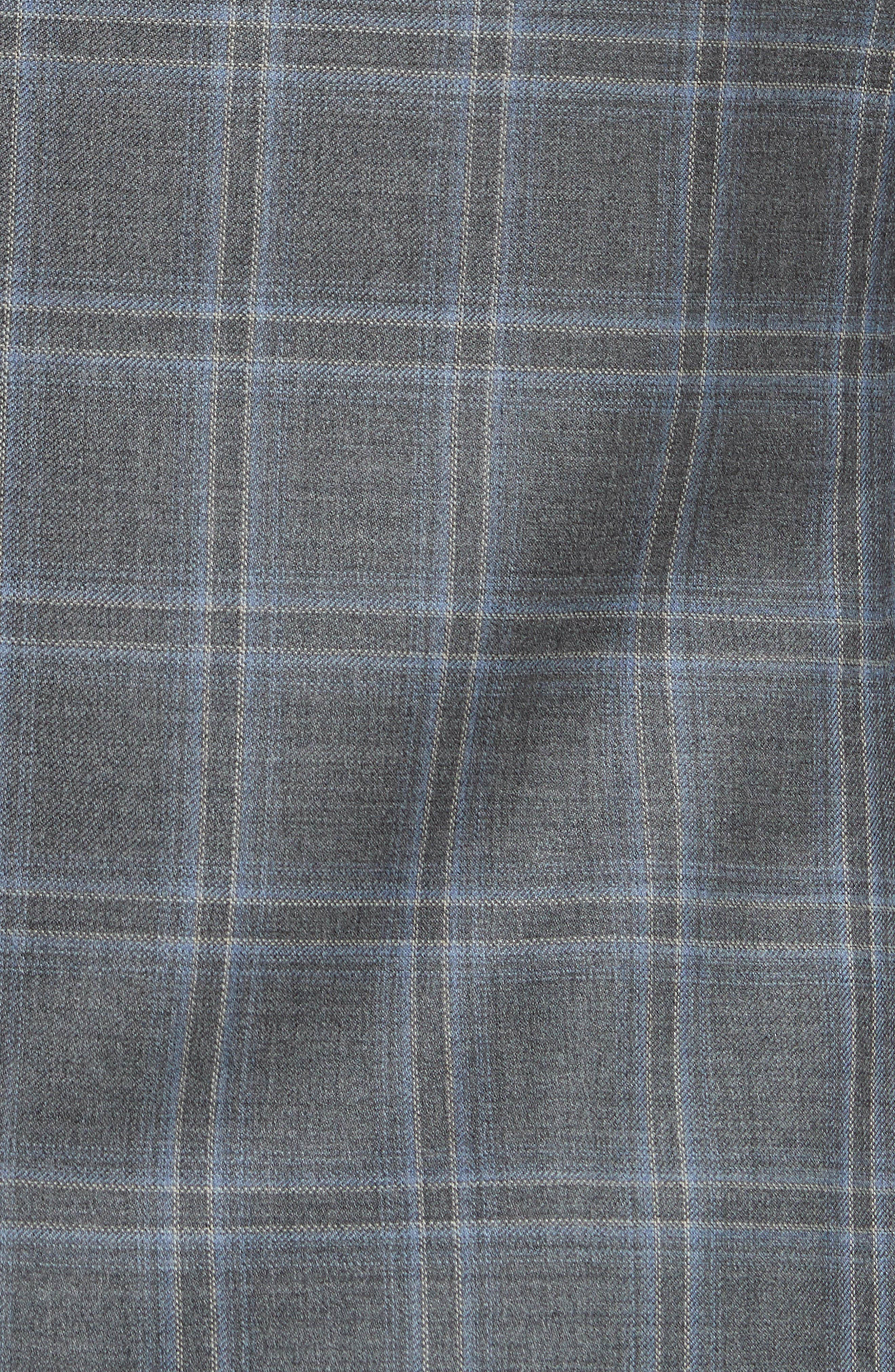 Classic Fit Plaid Wool Sport Coat,                             Alternate thumbnail 5, color,                             Grey