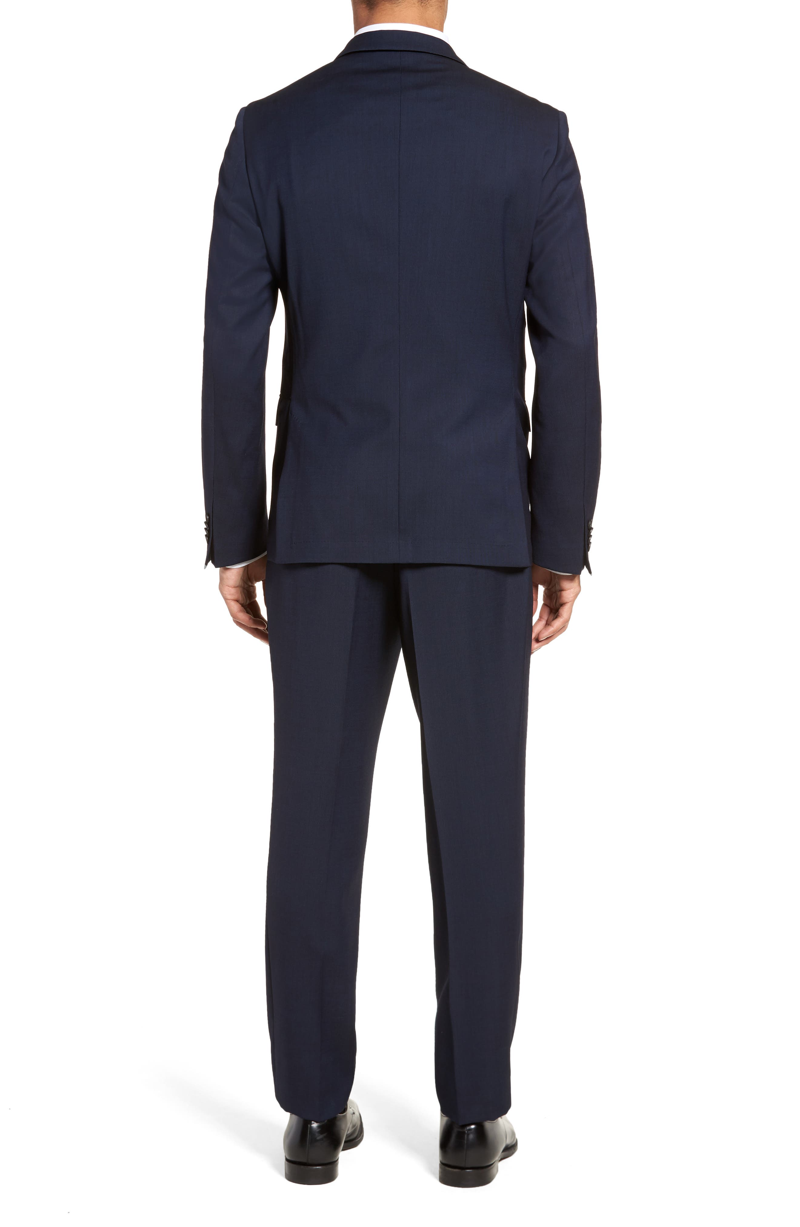 Nylen/Perry Trim Fit Solid Wool Suit,                             Alternate thumbnail 2, color,                             Navy