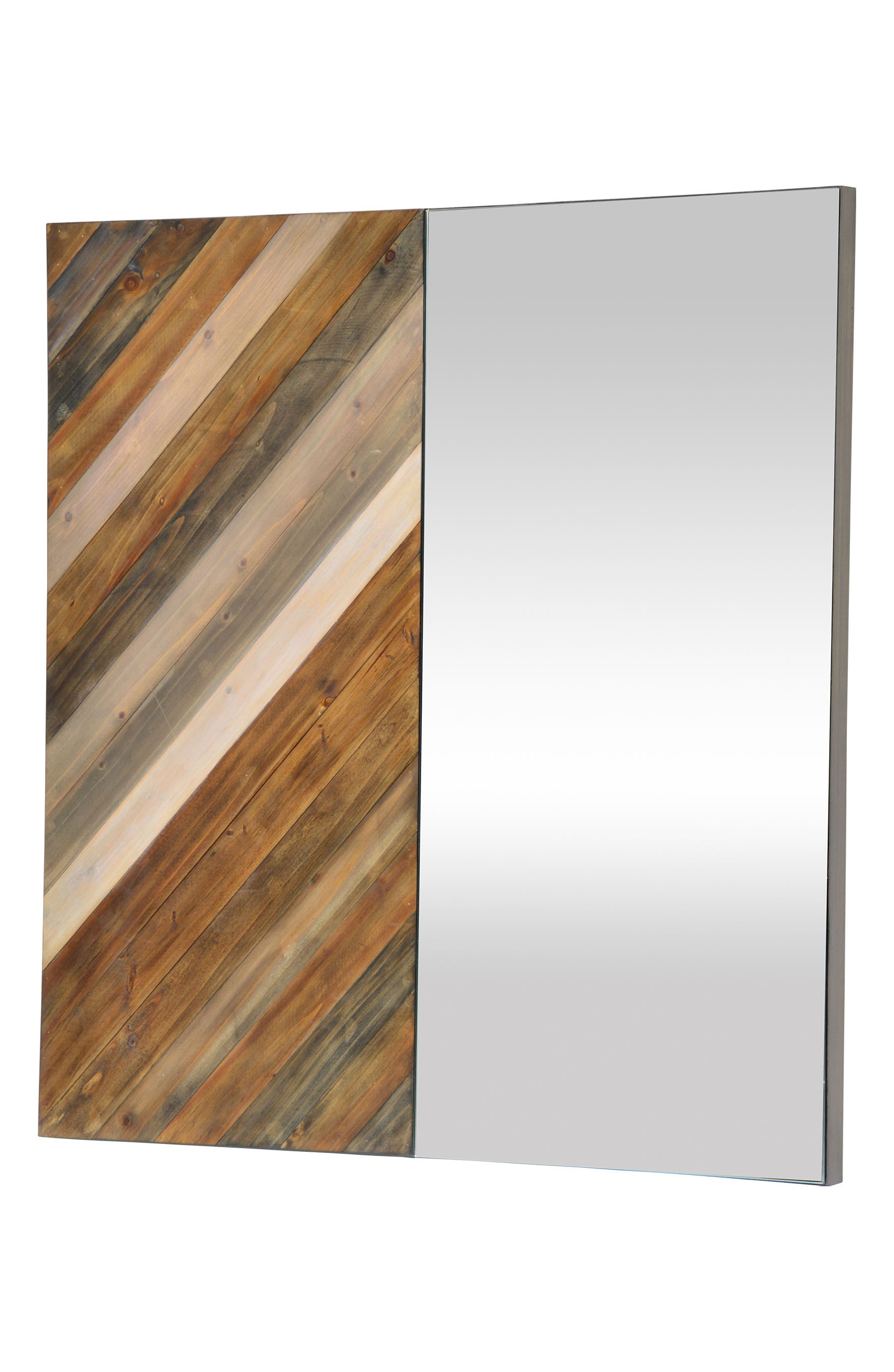 Diptych Mirror,                             Alternate thumbnail 2, color,                             Natural Wood