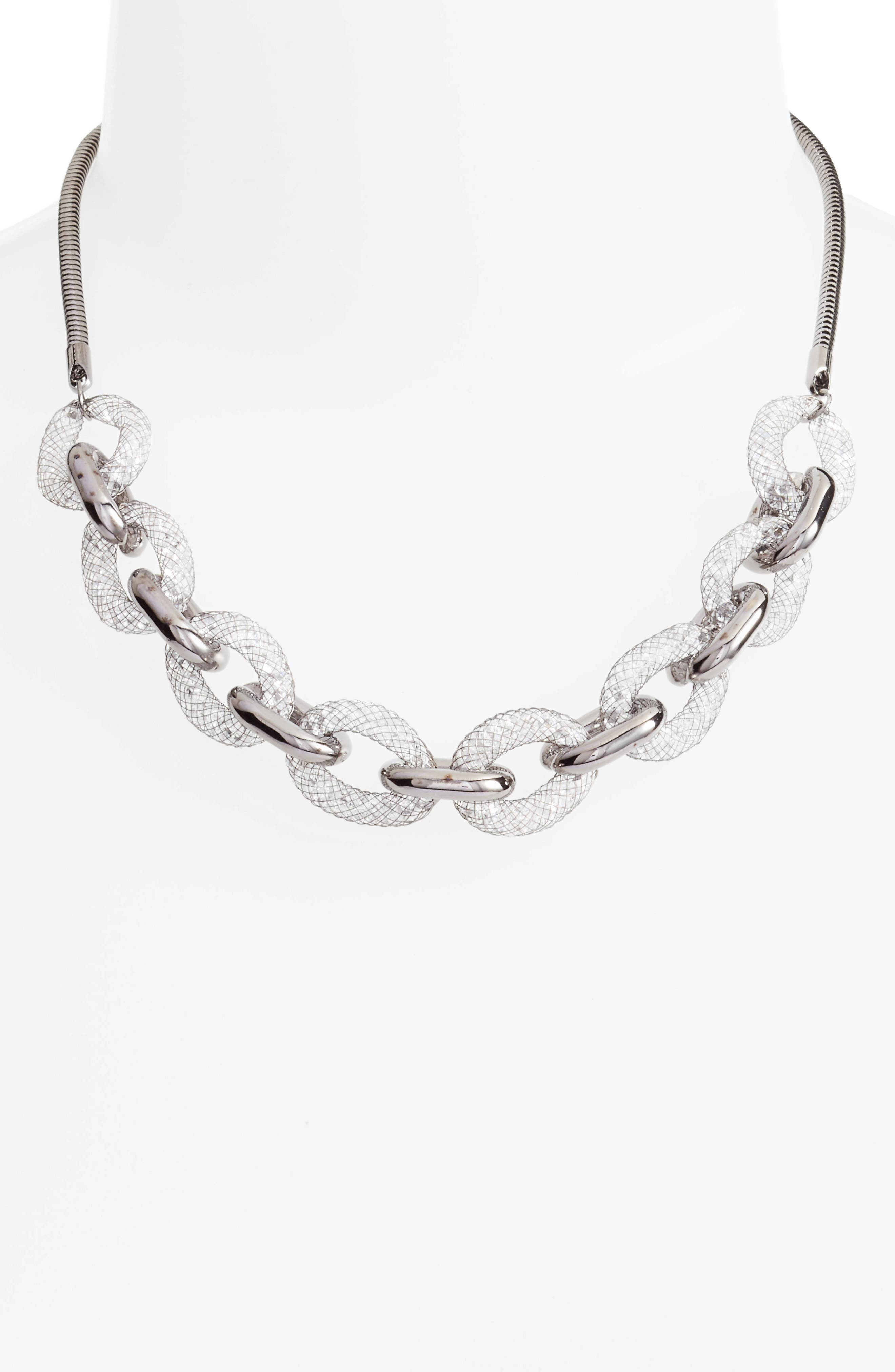 Signia Chain Link Necklace,                             Alternate thumbnail 2, color,                             Dark Silver