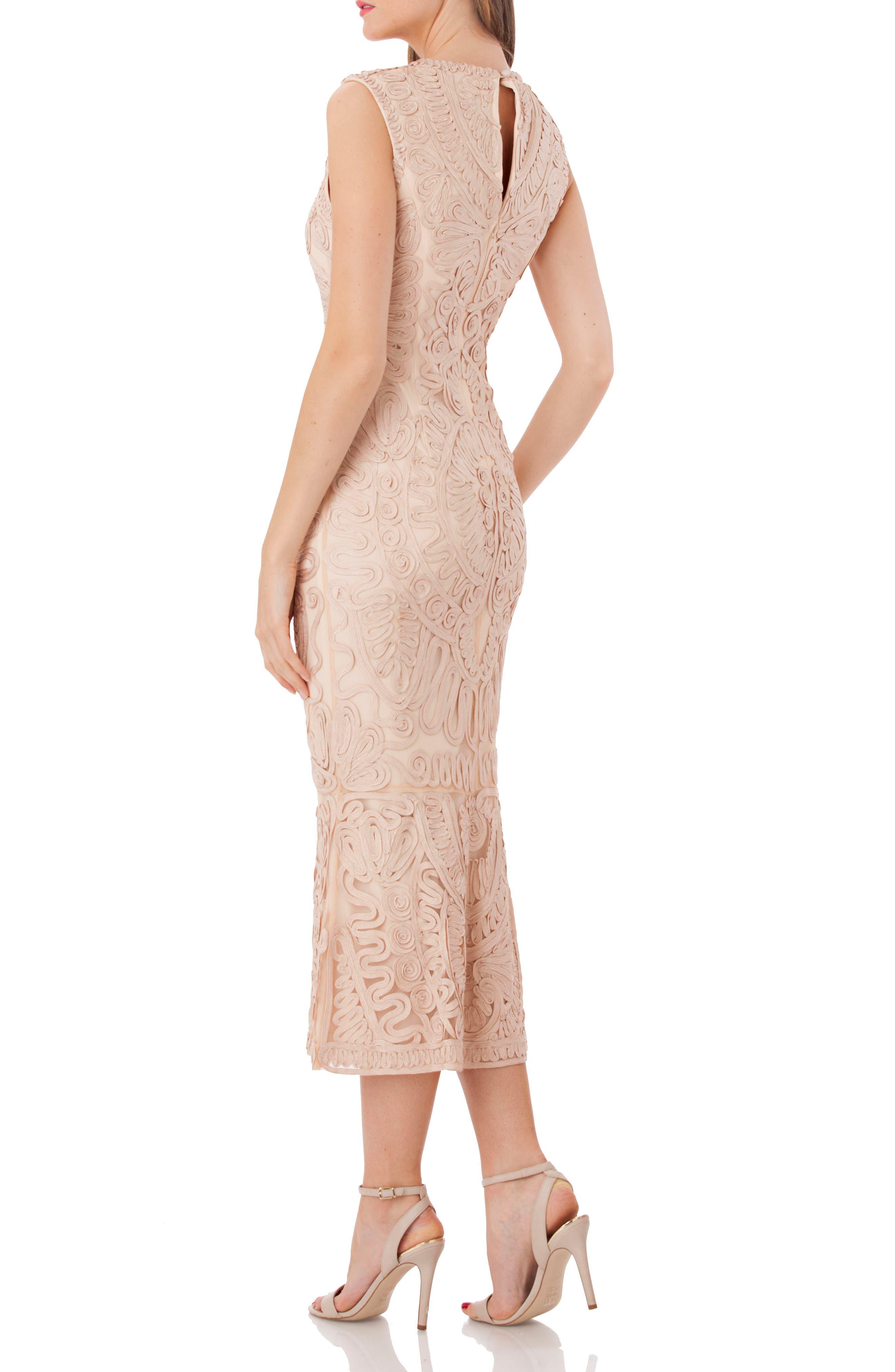 Alternate Image 2  - JS Collections Soutache Mesh Dress (Regular & Petite)