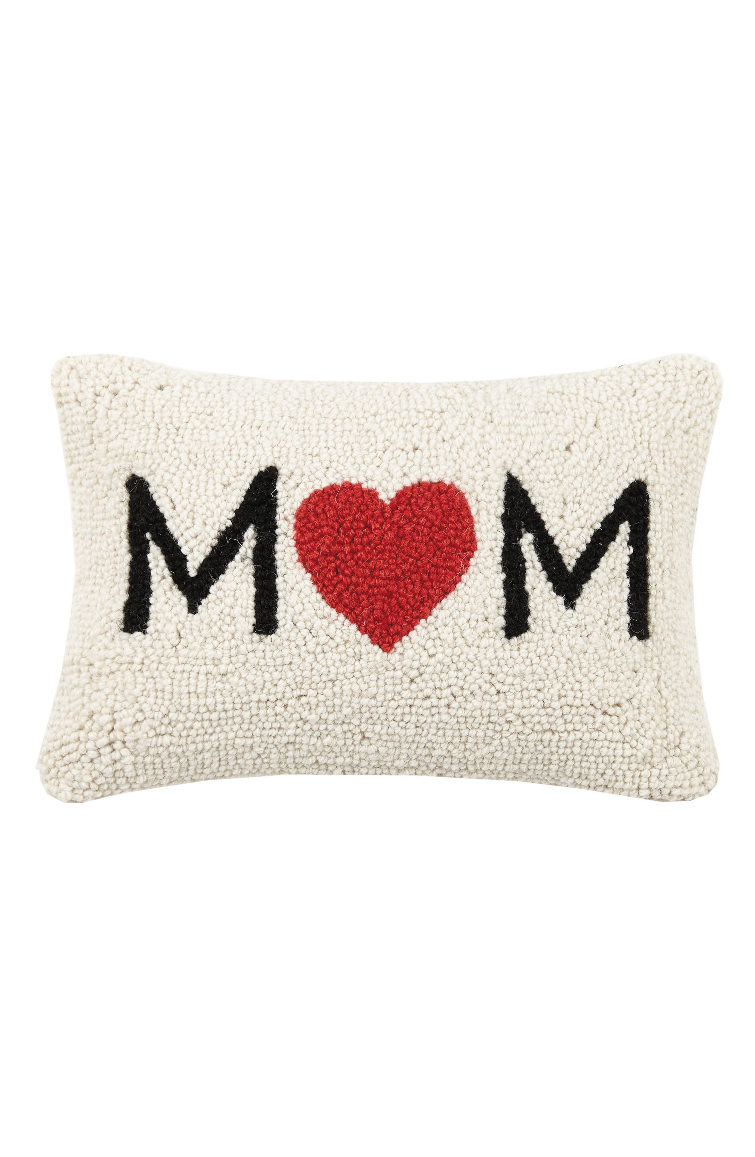 Mom Accent Pillow,                             Main thumbnail 1, color,                             Red Multi