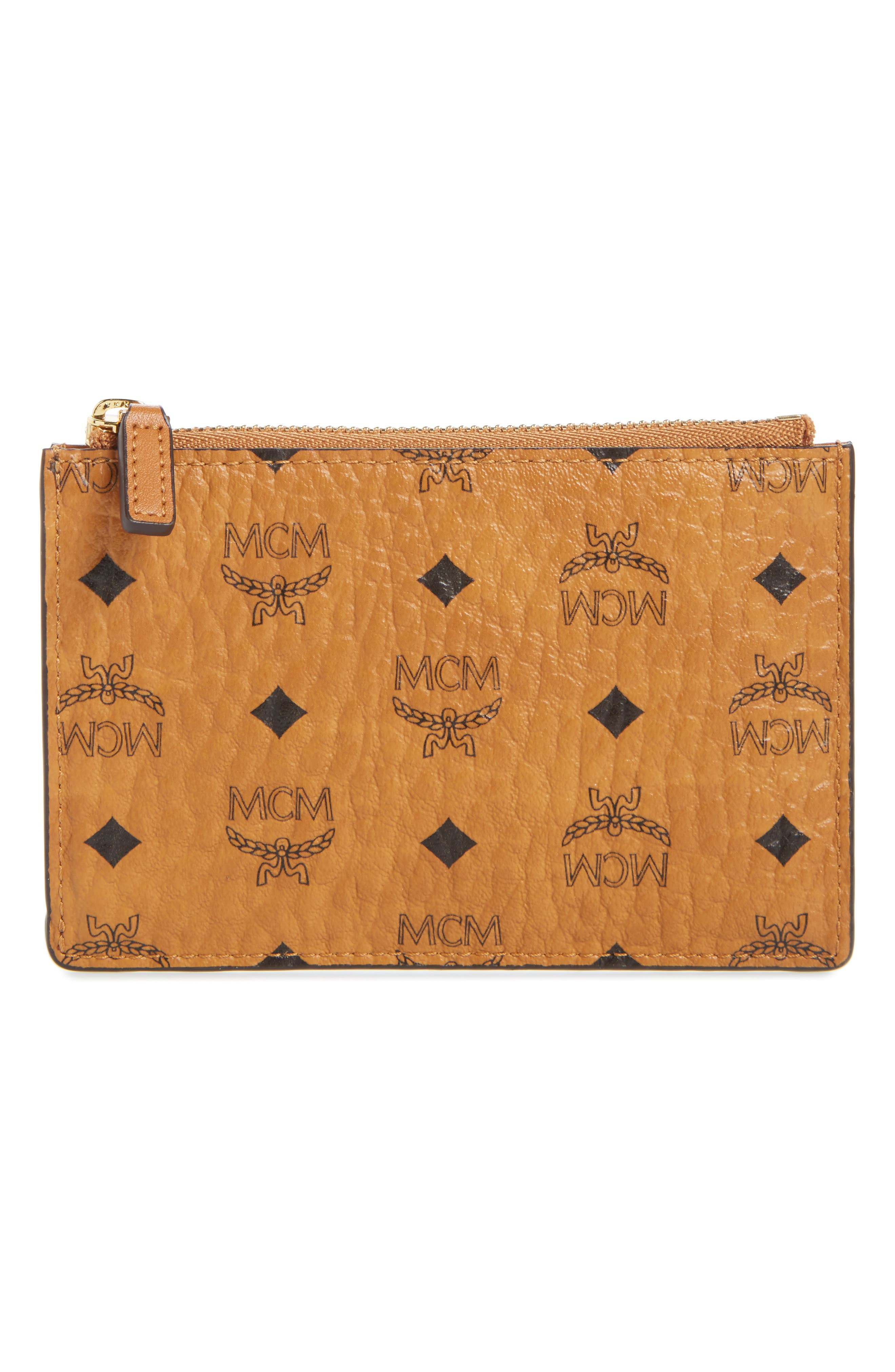 MCM Mini Visetos Original Key Pouch
