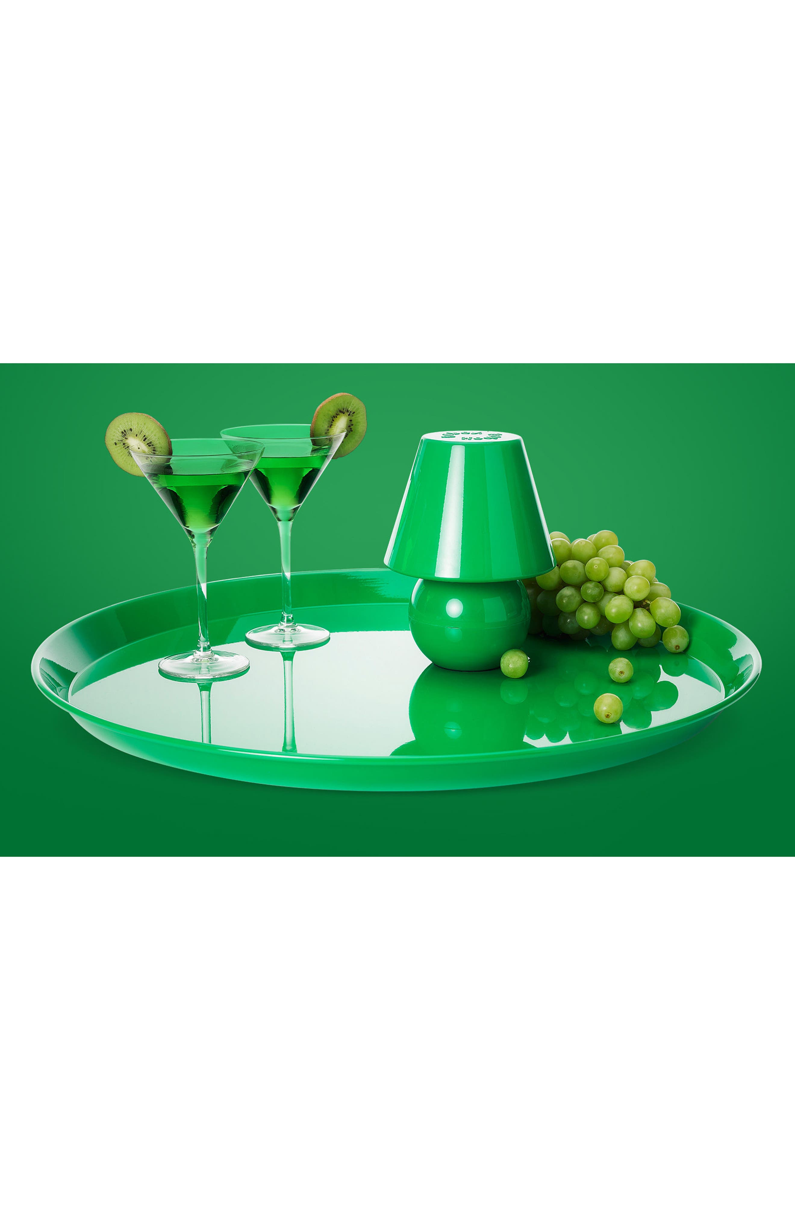 Snacklight Serving Tray,                             Alternate thumbnail 3, color,                             Green