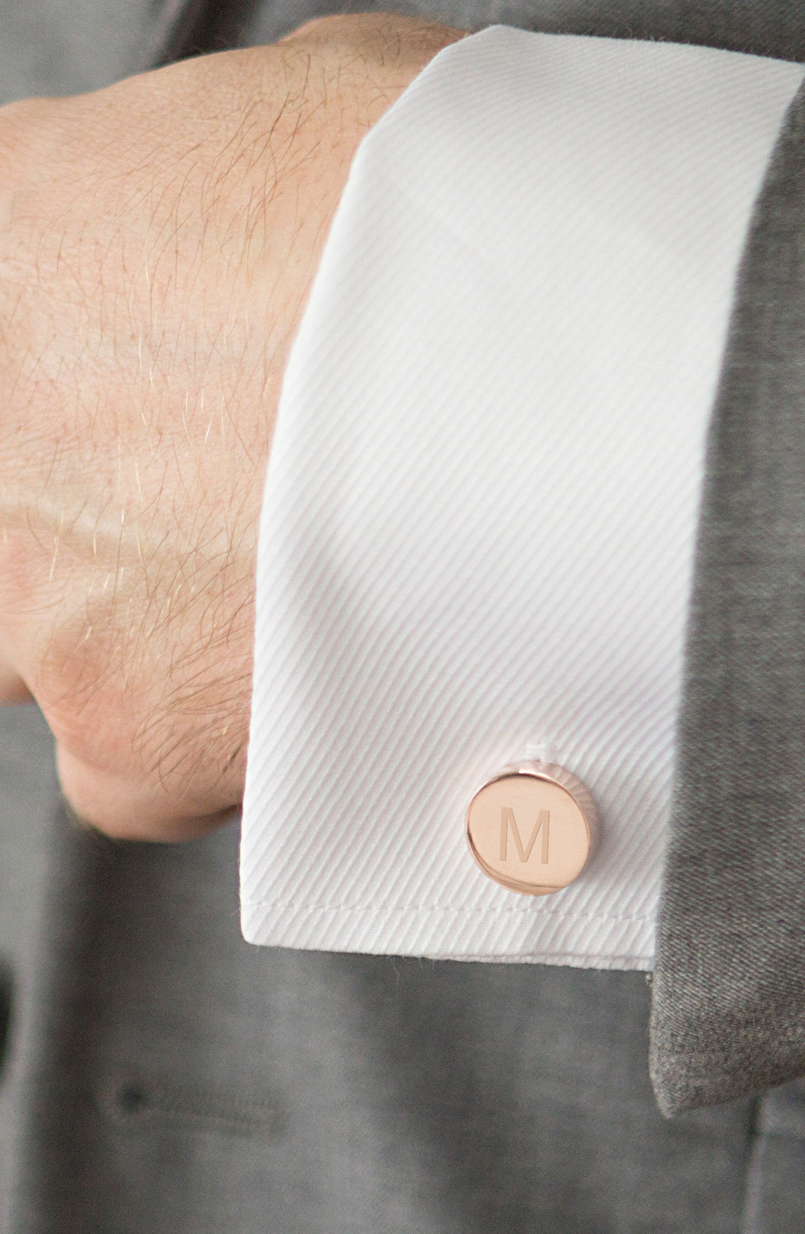 Monogram Cuff Links,                             Alternate thumbnail 3, color,