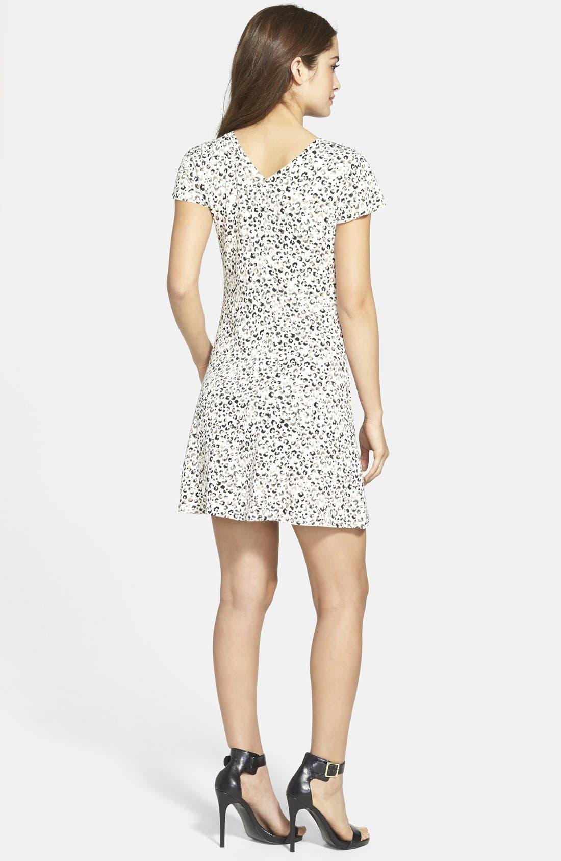 Alternate Image 2  - kensie Cheetah Print V-Neck Dress