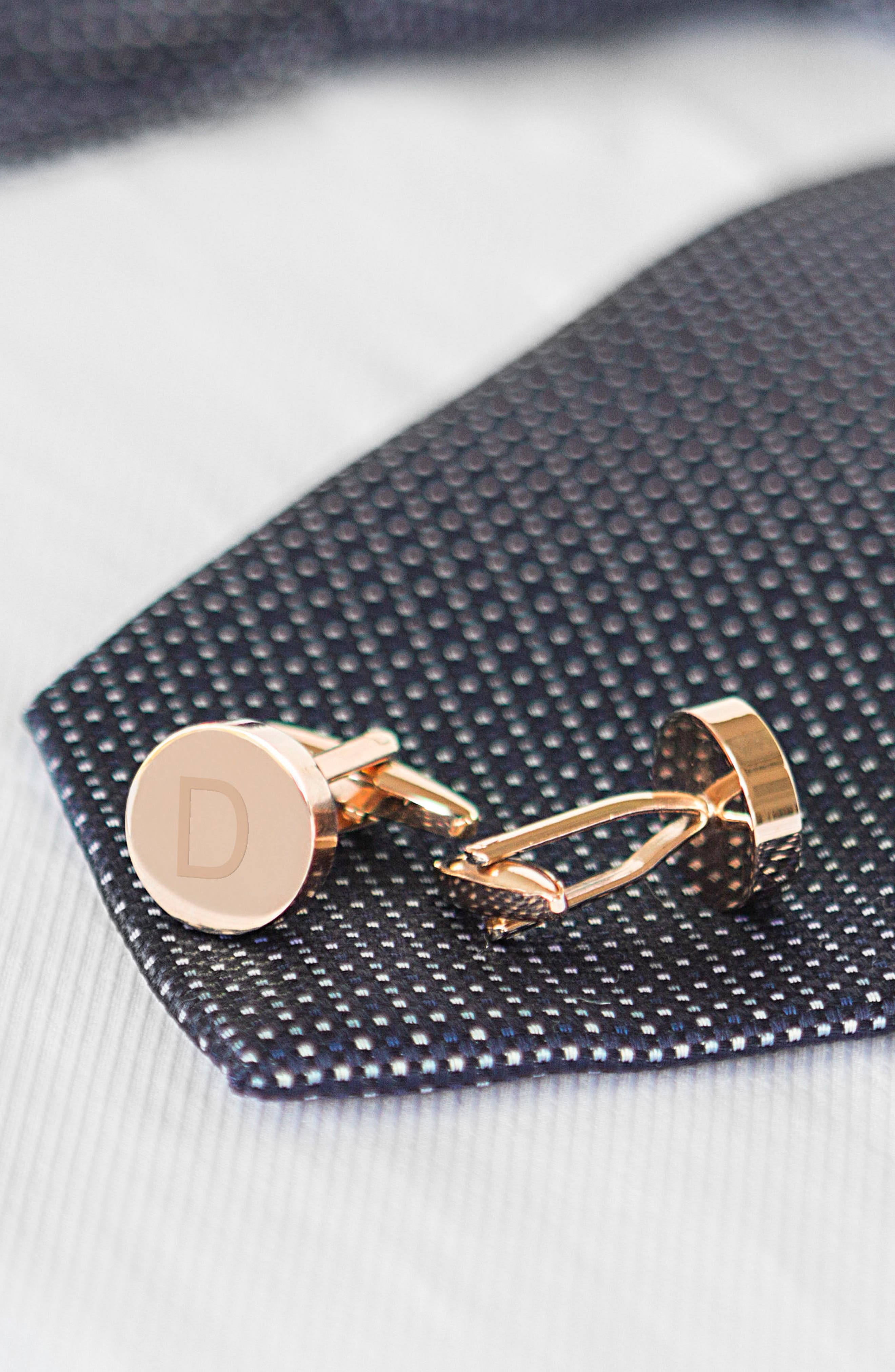 Monogram Cuff Links,                             Alternate thumbnail 5, color,