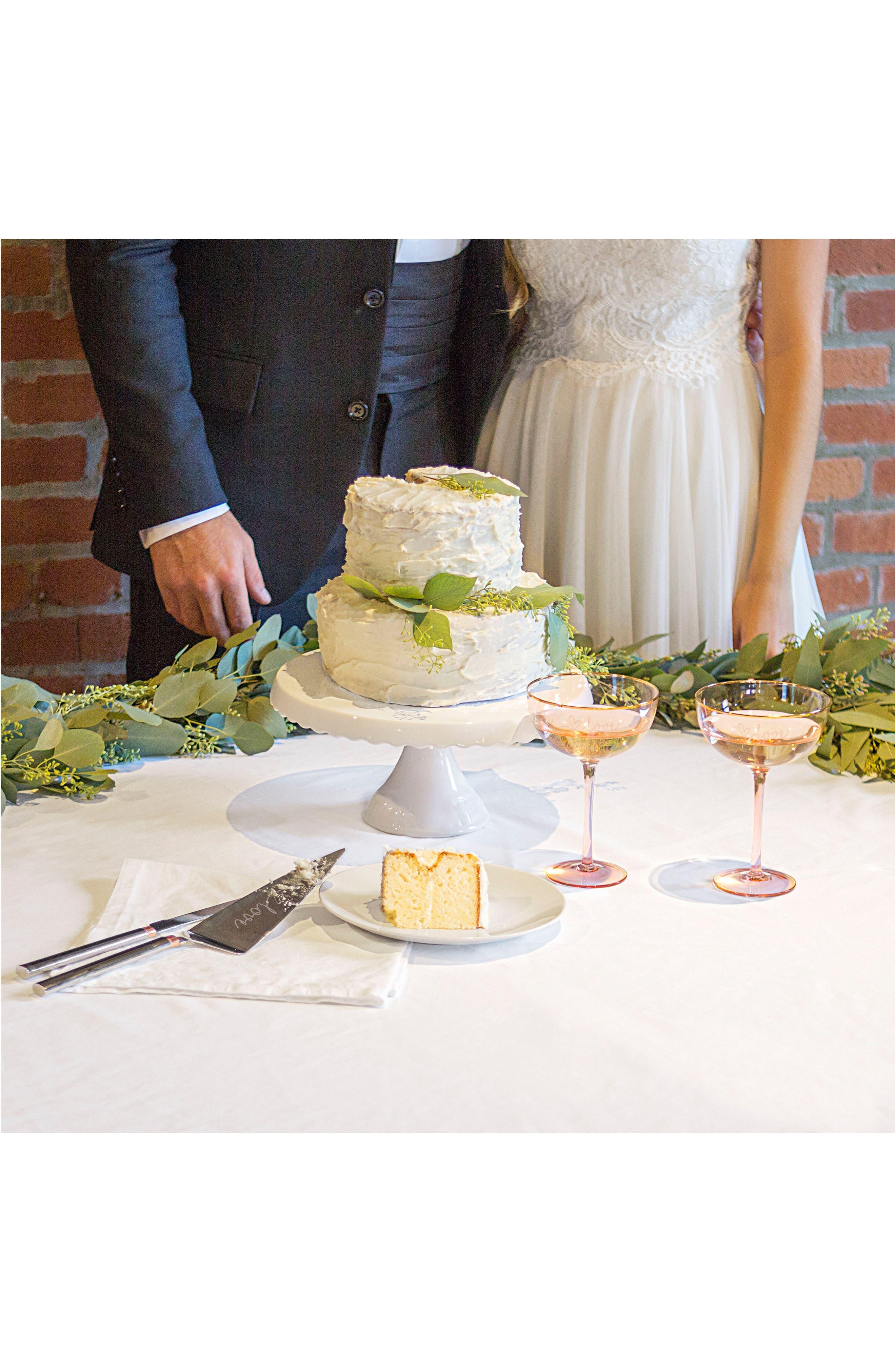 Love Monogram Cake Stand & Server Set,                             Alternate thumbnail 8, color,                             Gold