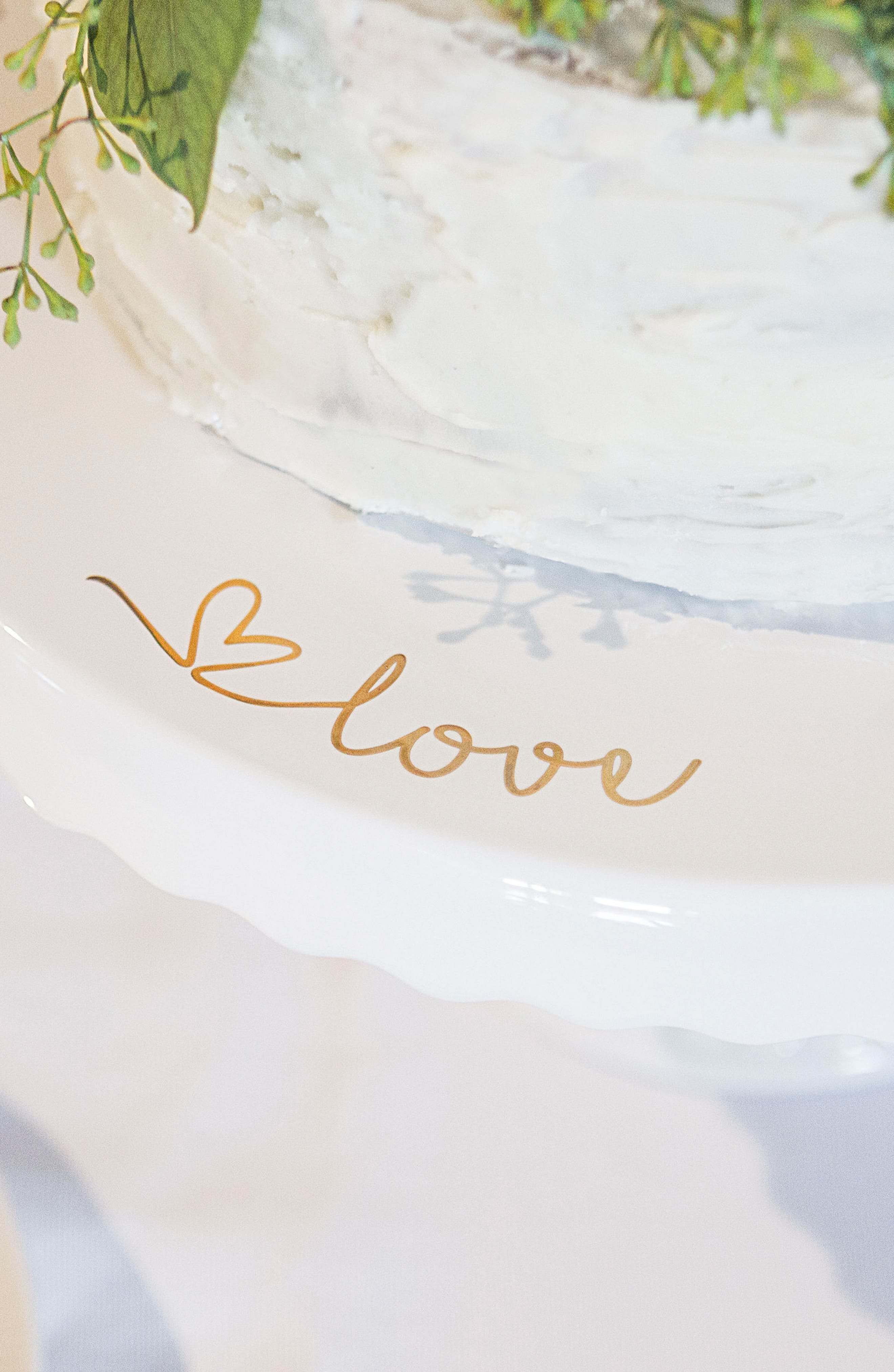 Love Cake Stand,                             Alternate thumbnail 8, color,                             Gold