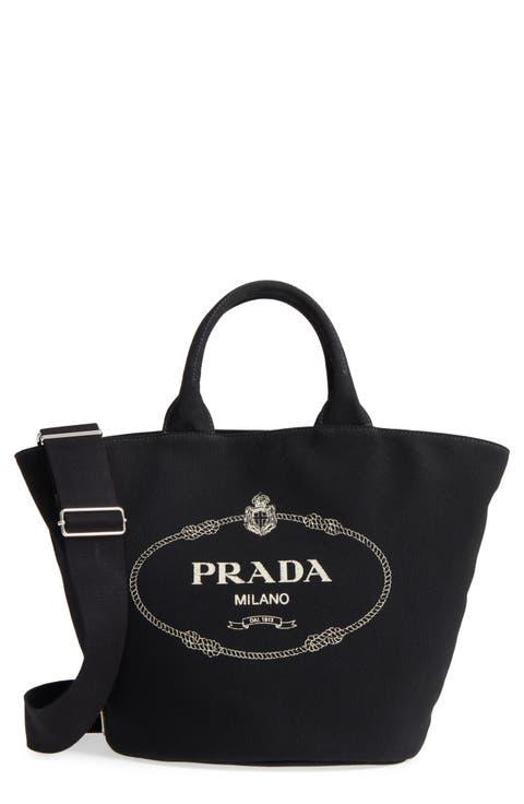 Prada Small Canapa Logo Garde Canvas Tote   Deal Shop ea66d18d90