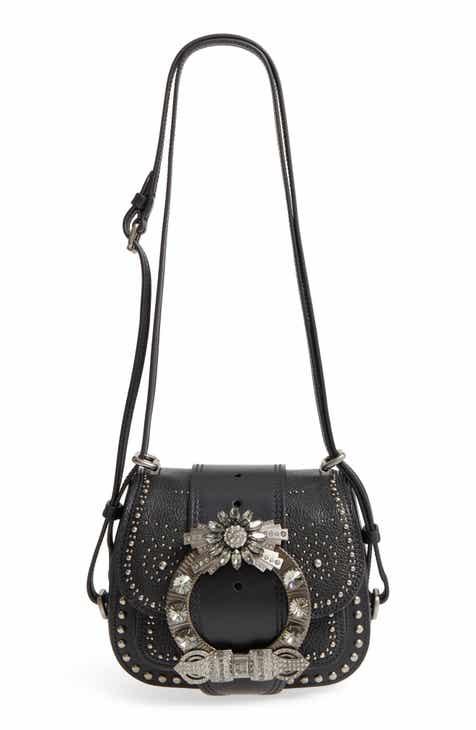 Miu Miu Dahlia Leather Shoulder Bag