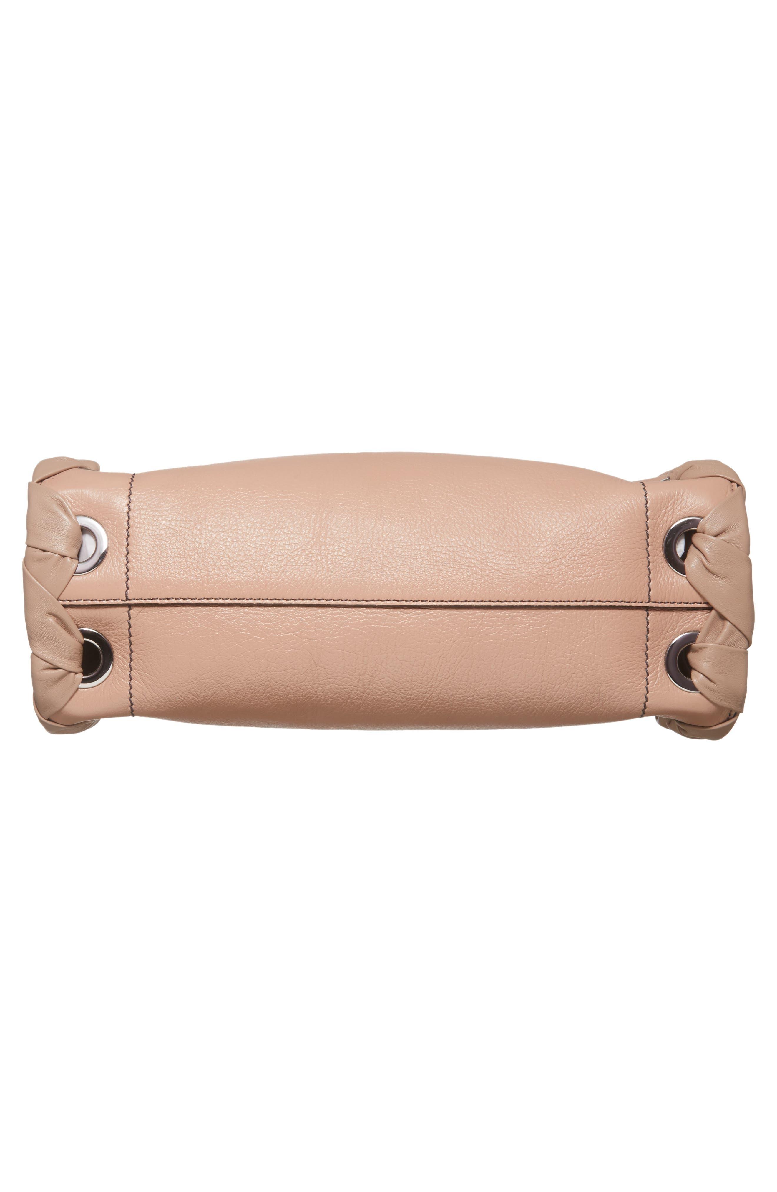 Rebel Leather Shoulder Bag,                             Alternate thumbnail 6, color,                             Ballet Pink