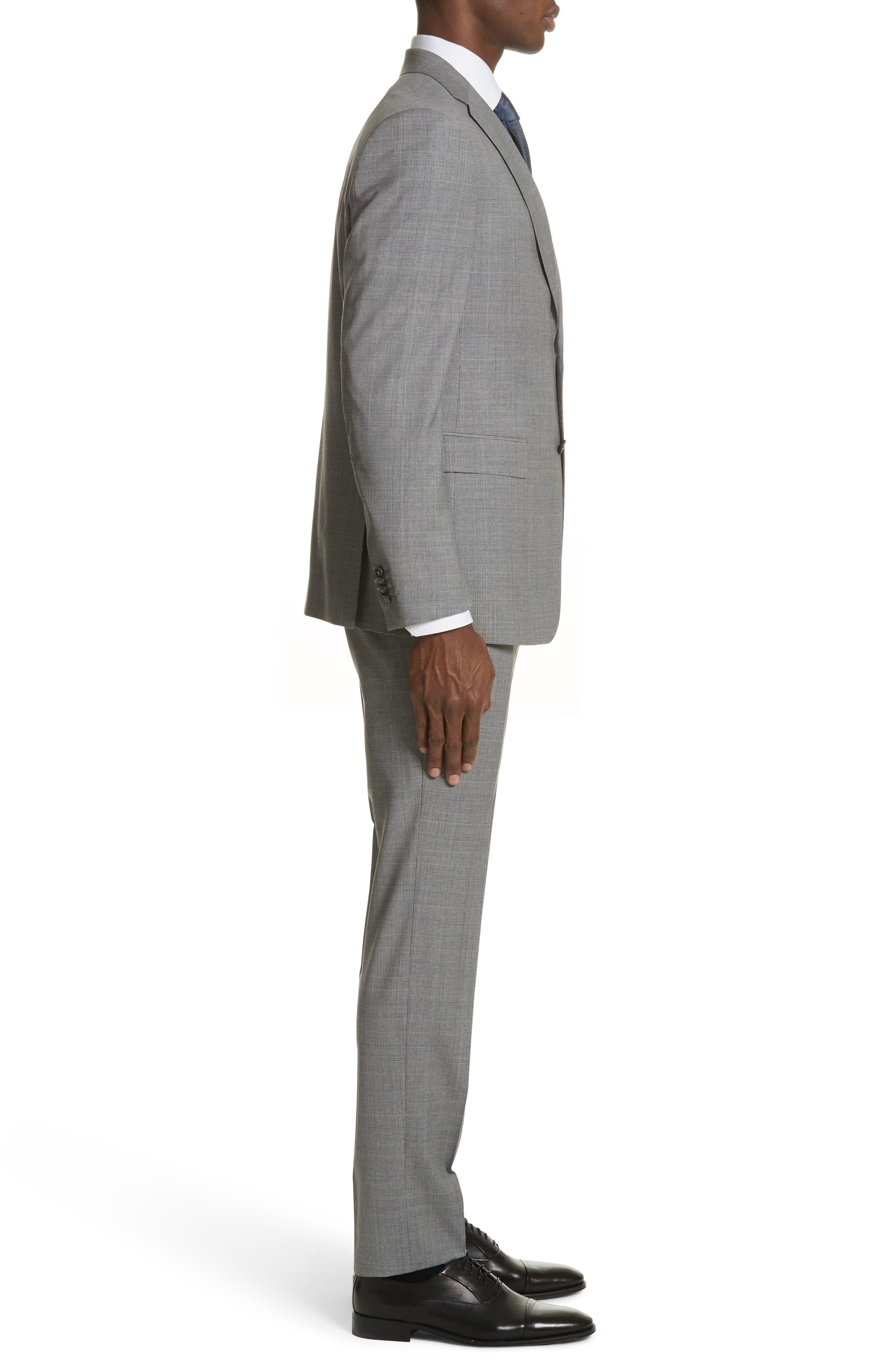Classic Fit Plaid Wool Suit,                             Alternate thumbnail 3, color,                             Dark Grey Check