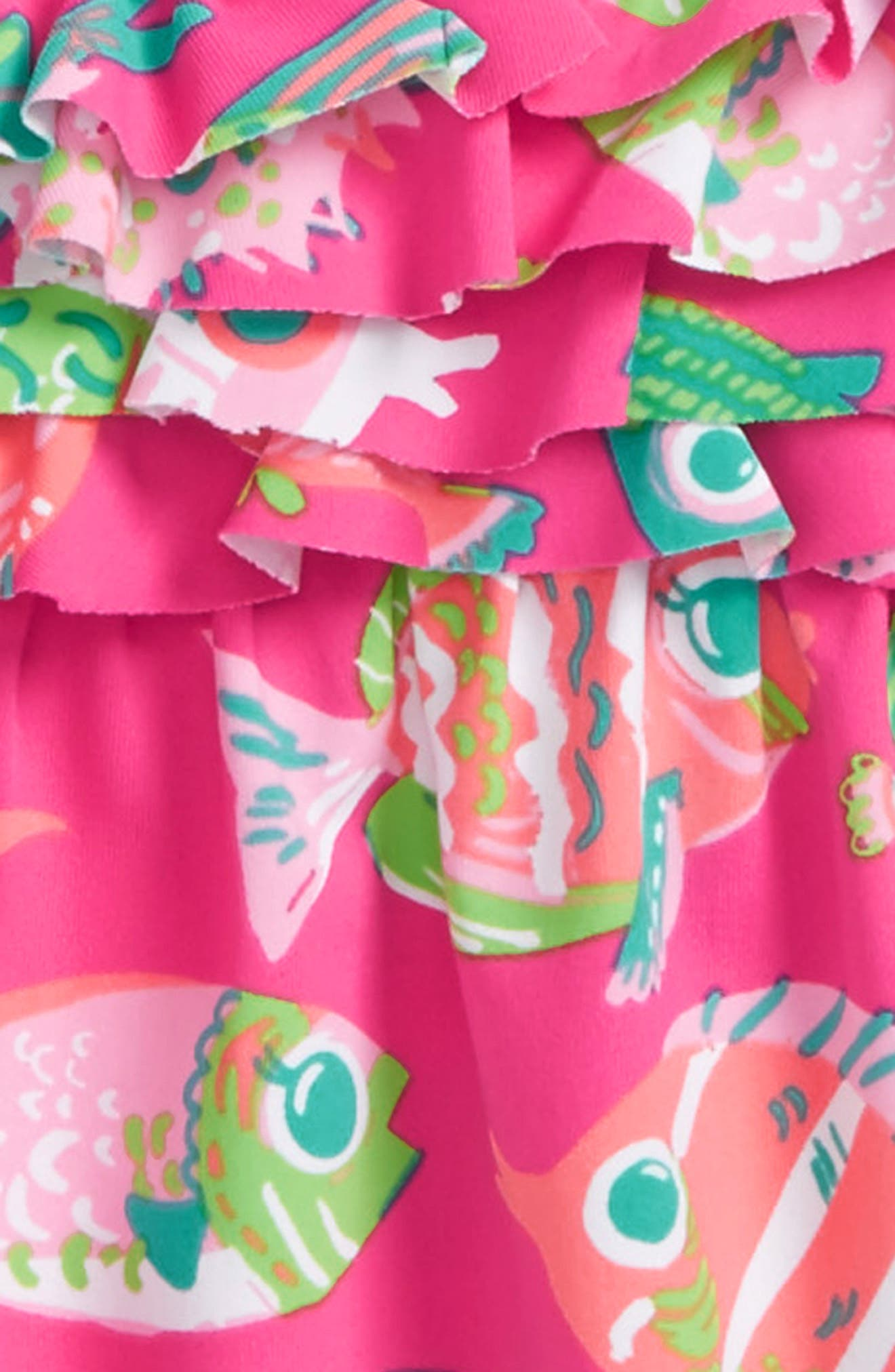 Alternate Image 2  - Hatley Fish One-Piece Swimsuit (Baby Girls)