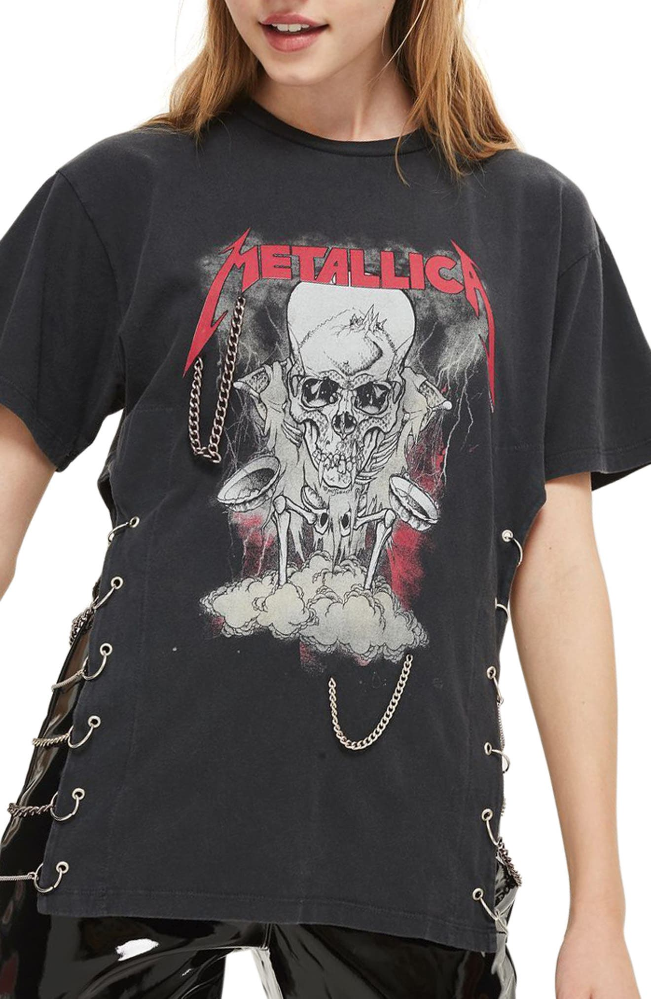 Main Image - Topshop by And Finally Metallica Chained Tee
