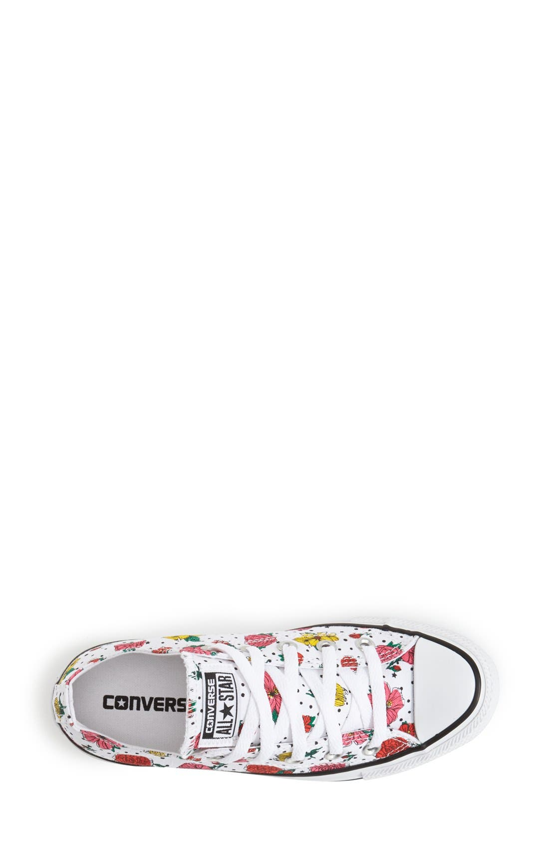 Alternate Image 3  - Converse Chuck Taylor® All Star® Floral Polka Dot Low Top Sneaker (Women)