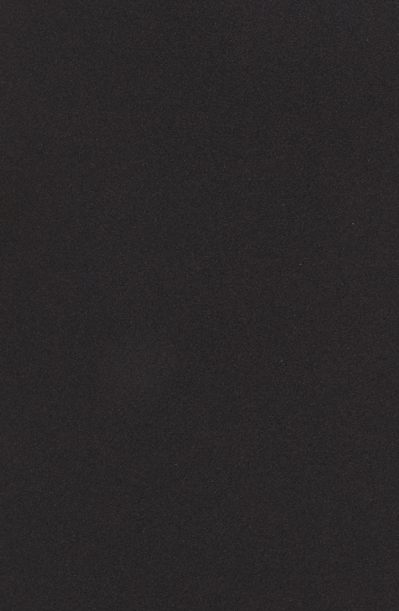 Soutache Waist Scuba Gown,                             Alternate thumbnail 5, color,                             Black