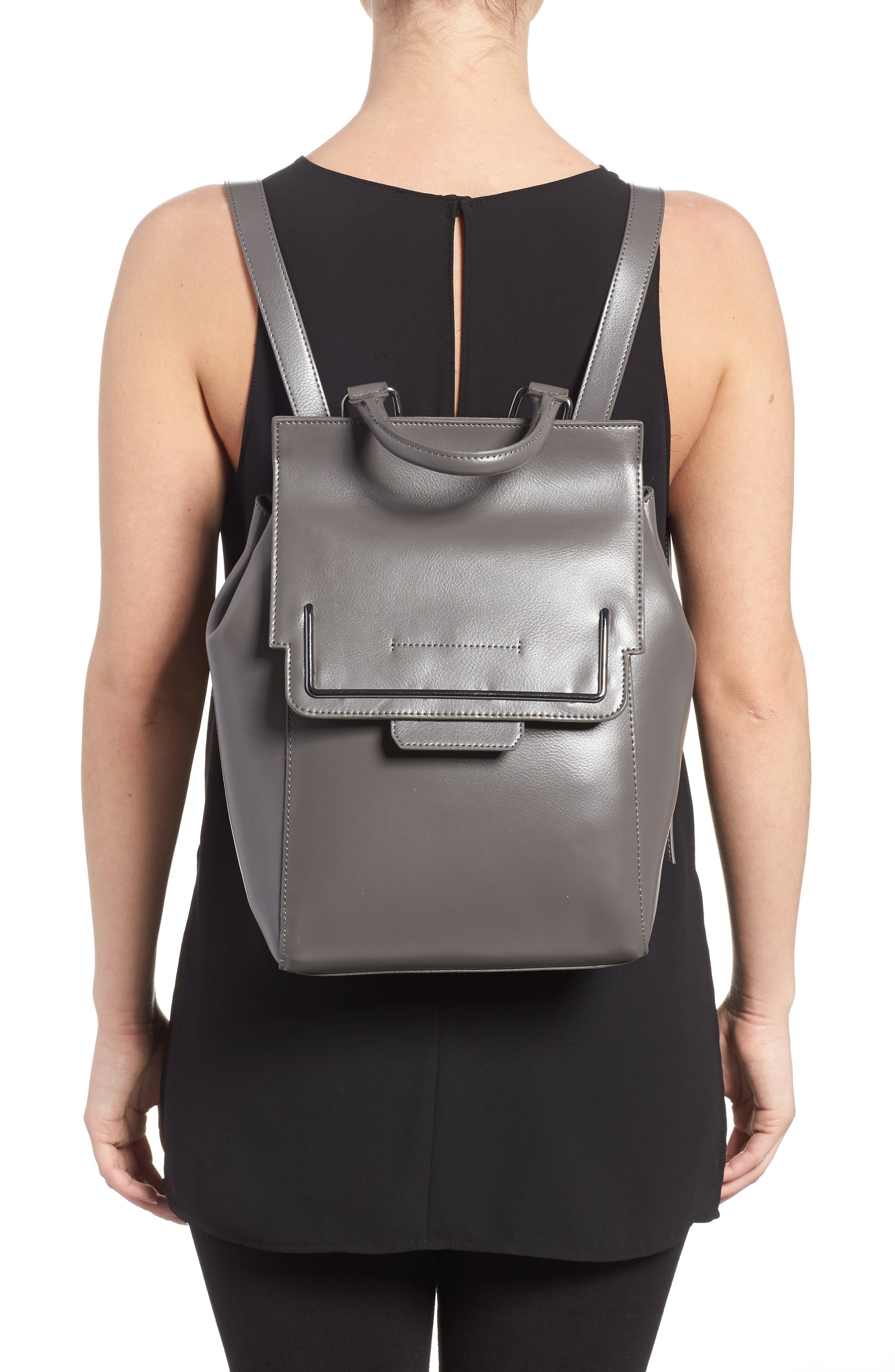 Alternate Image 2  - Danielle Nicole Dylan Leather Backpack