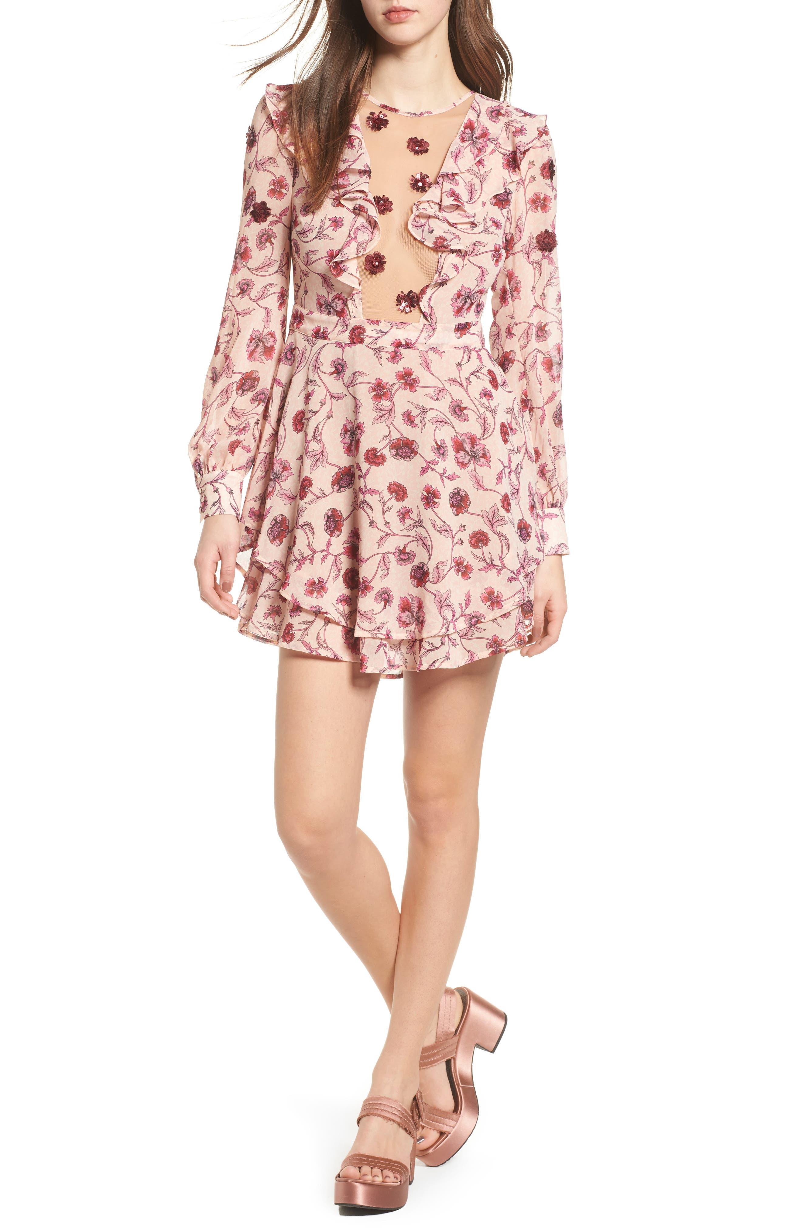 Main Image - For Love & Lemons Agness Minidress
