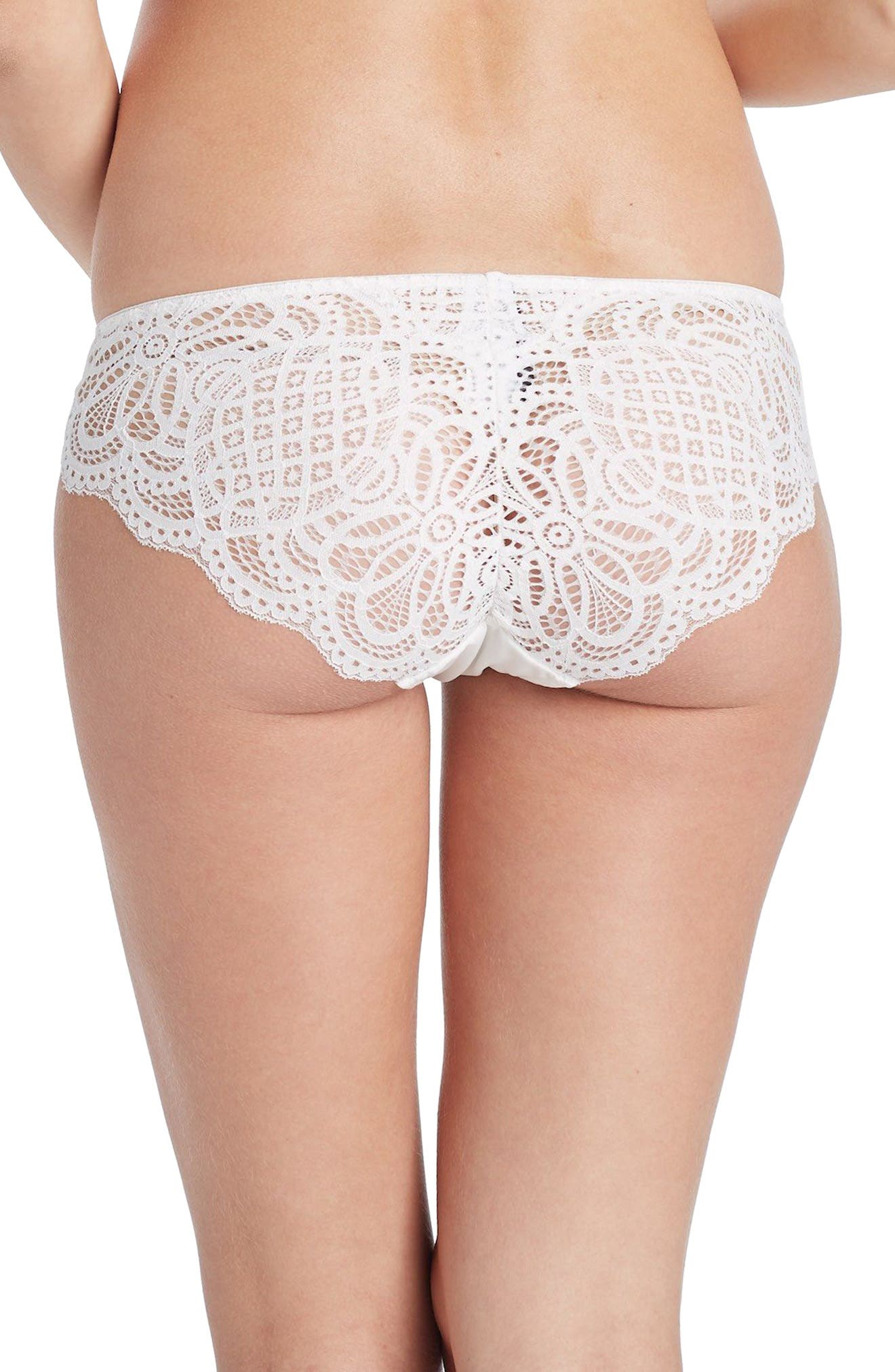 You! Lingerie Naya Lace Maternity Hipster,                             Alternate thumbnail 2, color,                             White