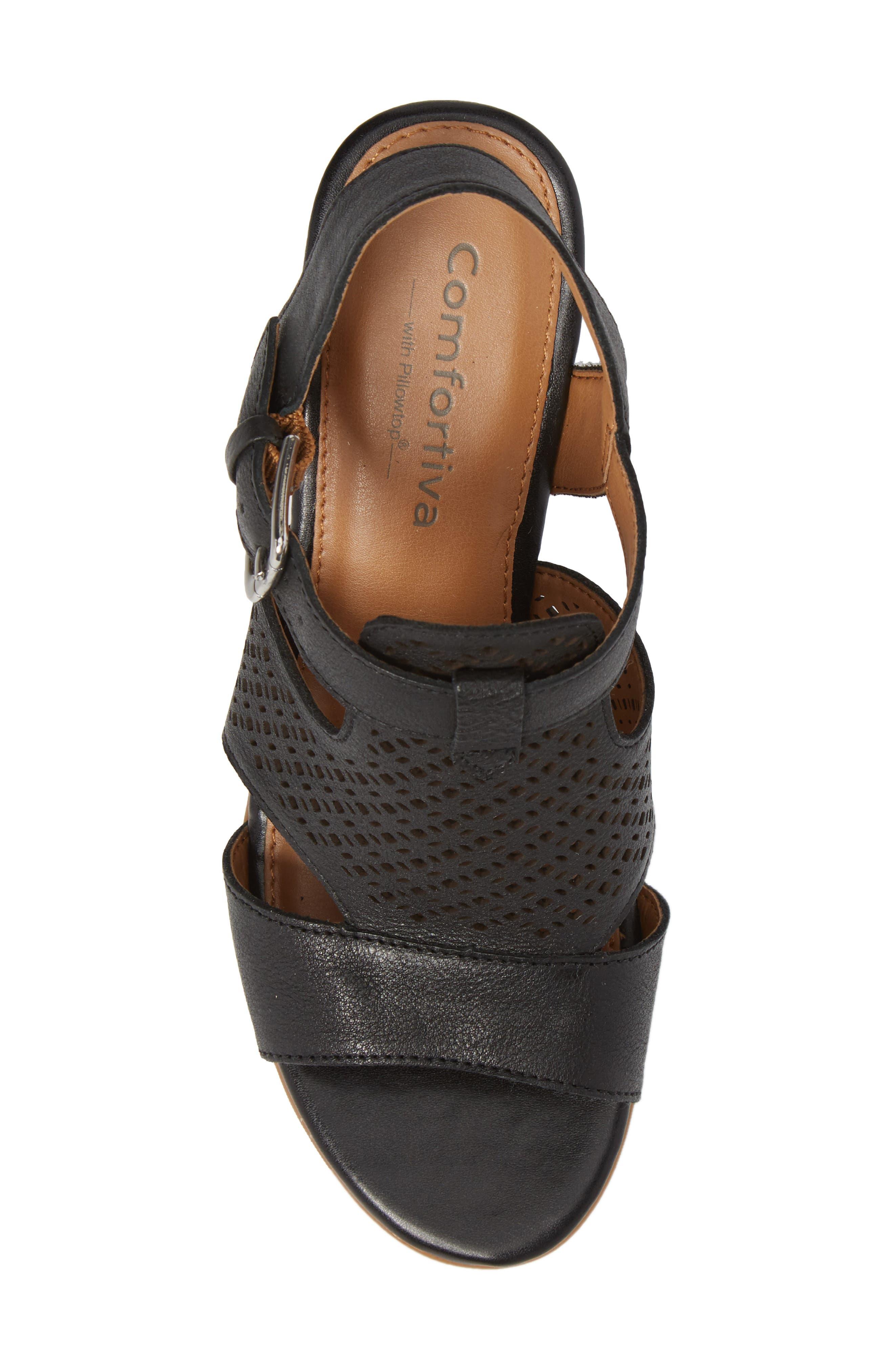 Alternate Image 5  - Comfortiva Amber Perforated Block Heel Sandal (Women)