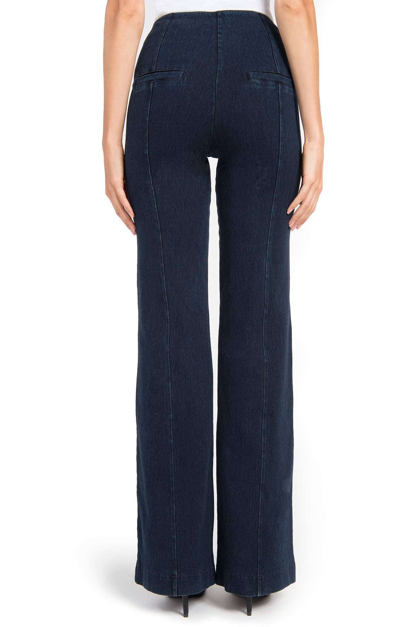 Wide Leg Denim Trousers,                             Alternate thumbnail 2, color,                             Indigo