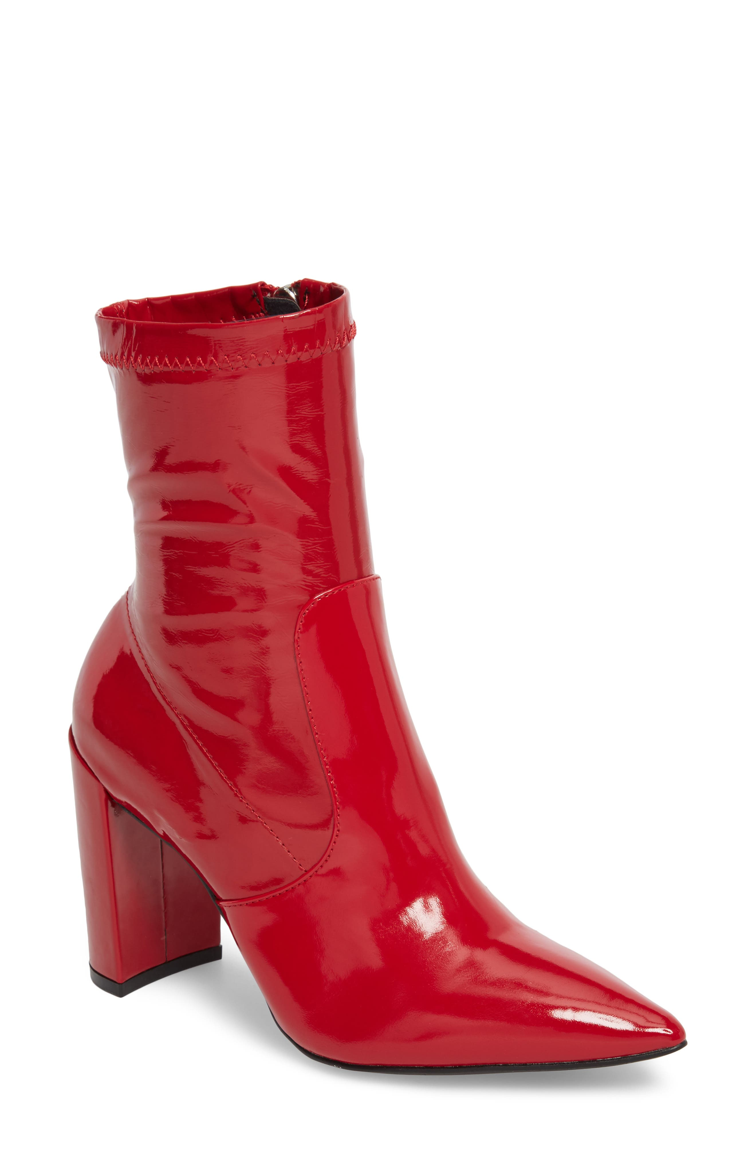 Raine Boot,                             Main thumbnail 1, color,                             Red Patent
