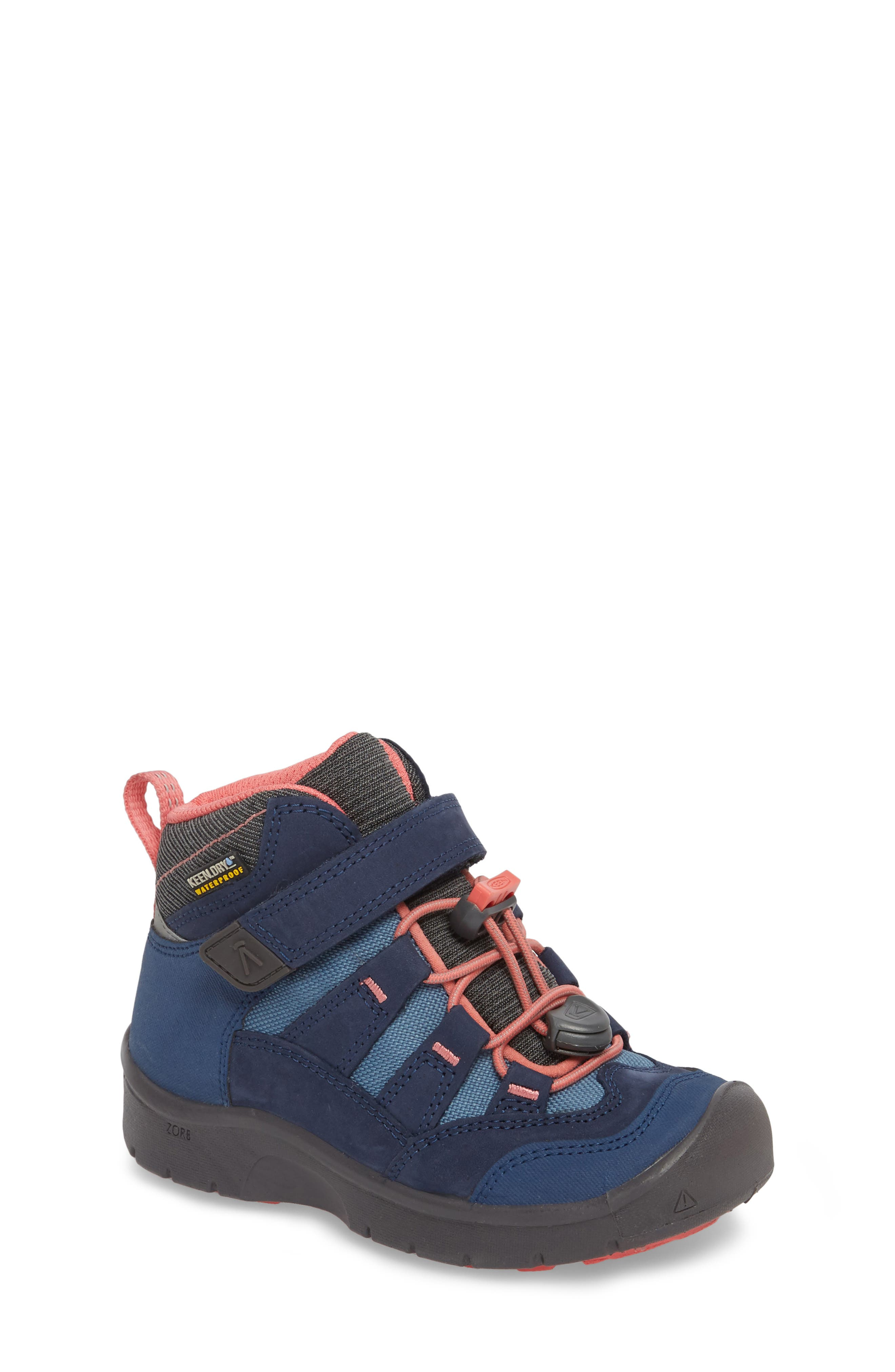 Hikeport Strap Waterproof Mid Boot,                         Main,                         color, Dress Blues/ Sugar Coral