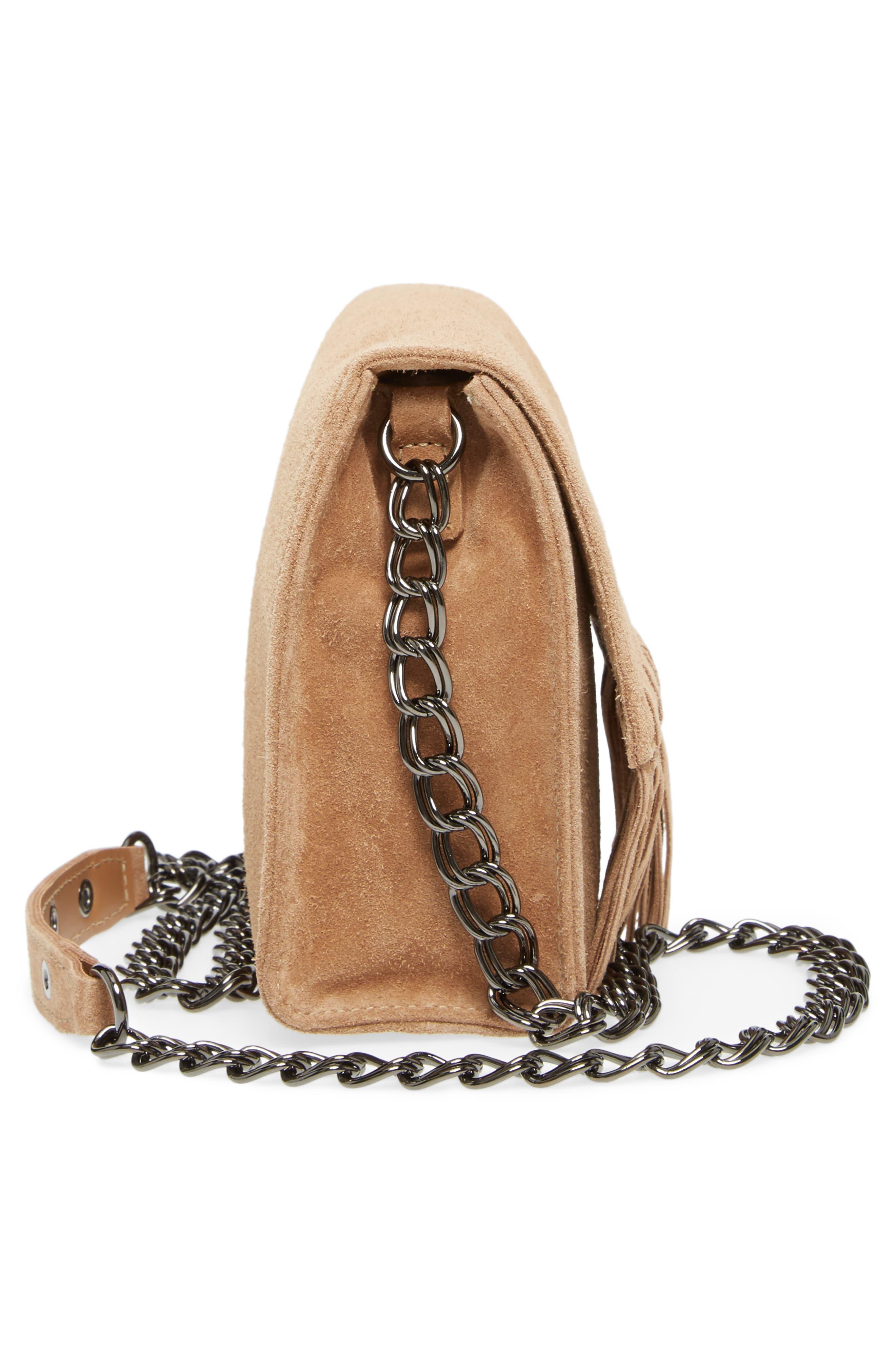 Alternate Image 5  - Longchamp Paris Rocks Fringe Calfskin Suede Crossbody Bag