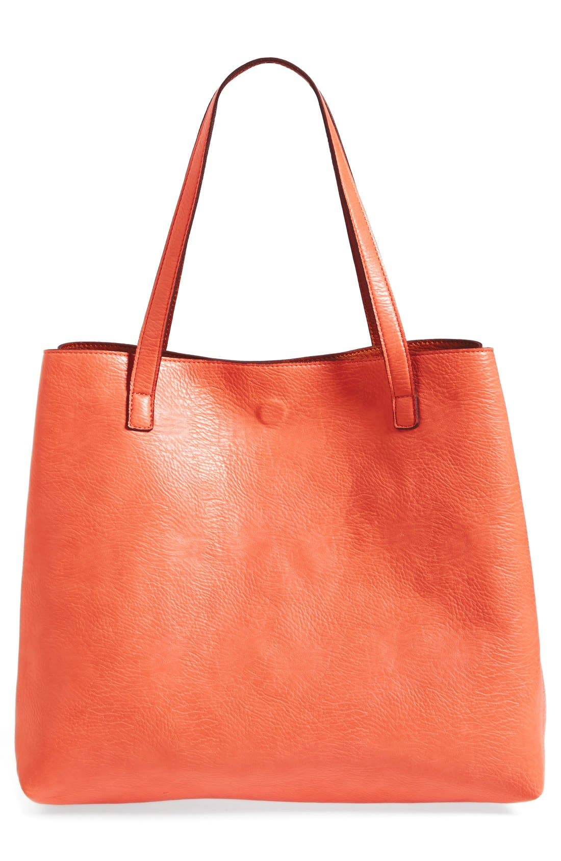 Alternate Image 4  - Street Level Laser Cut Reversible Faux Leather Tote