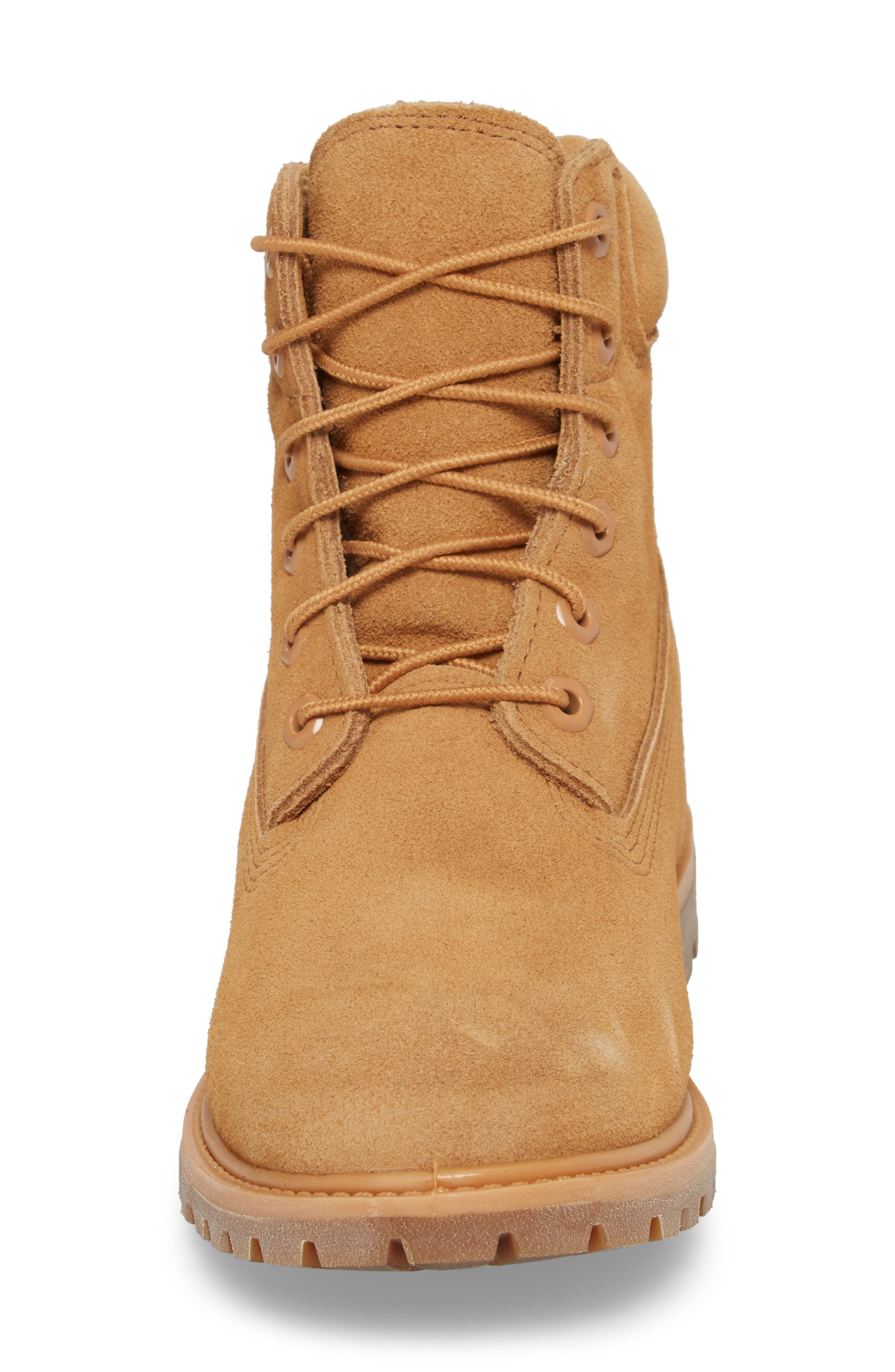 6 Inch Boot,                             Alternate thumbnail 4, color,                             Biscuit Nubuck Leather