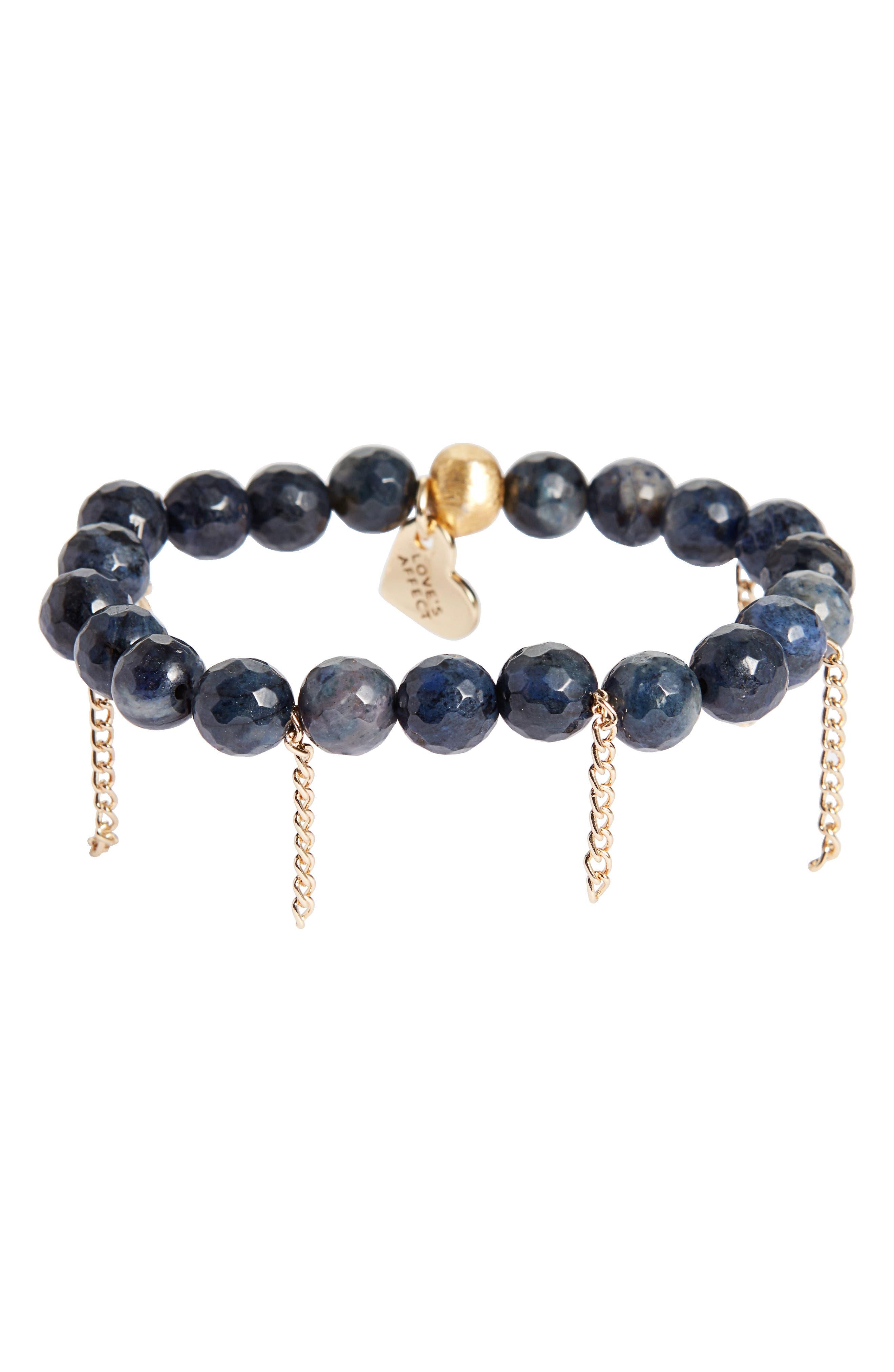 Alternate Image 1 Selected - Love's Affect Devyn Semiprecious Stretch Bracelet