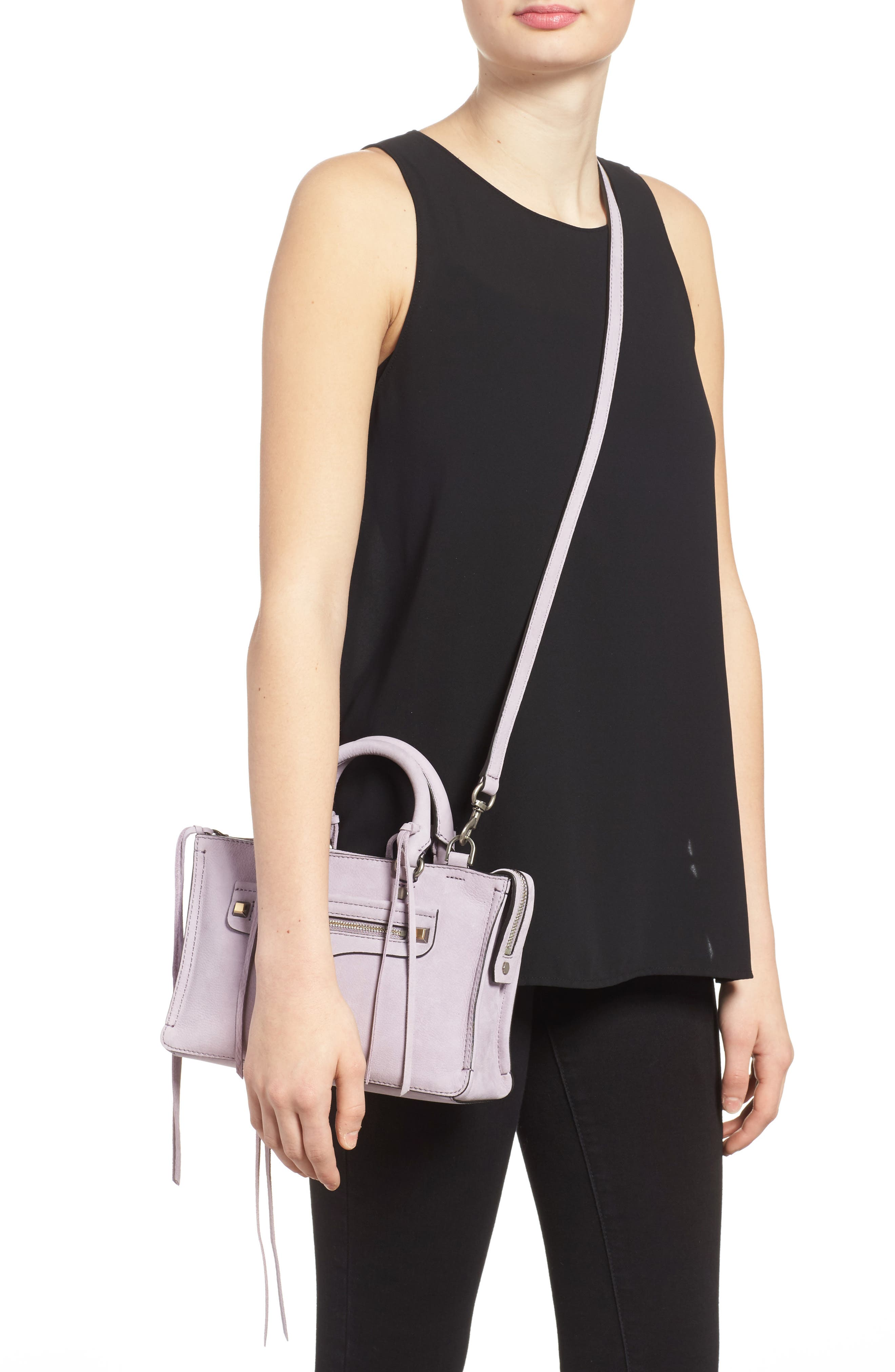 Alternate Image 2  - Rebecca Minkoff Micro Regan Leather Satchel