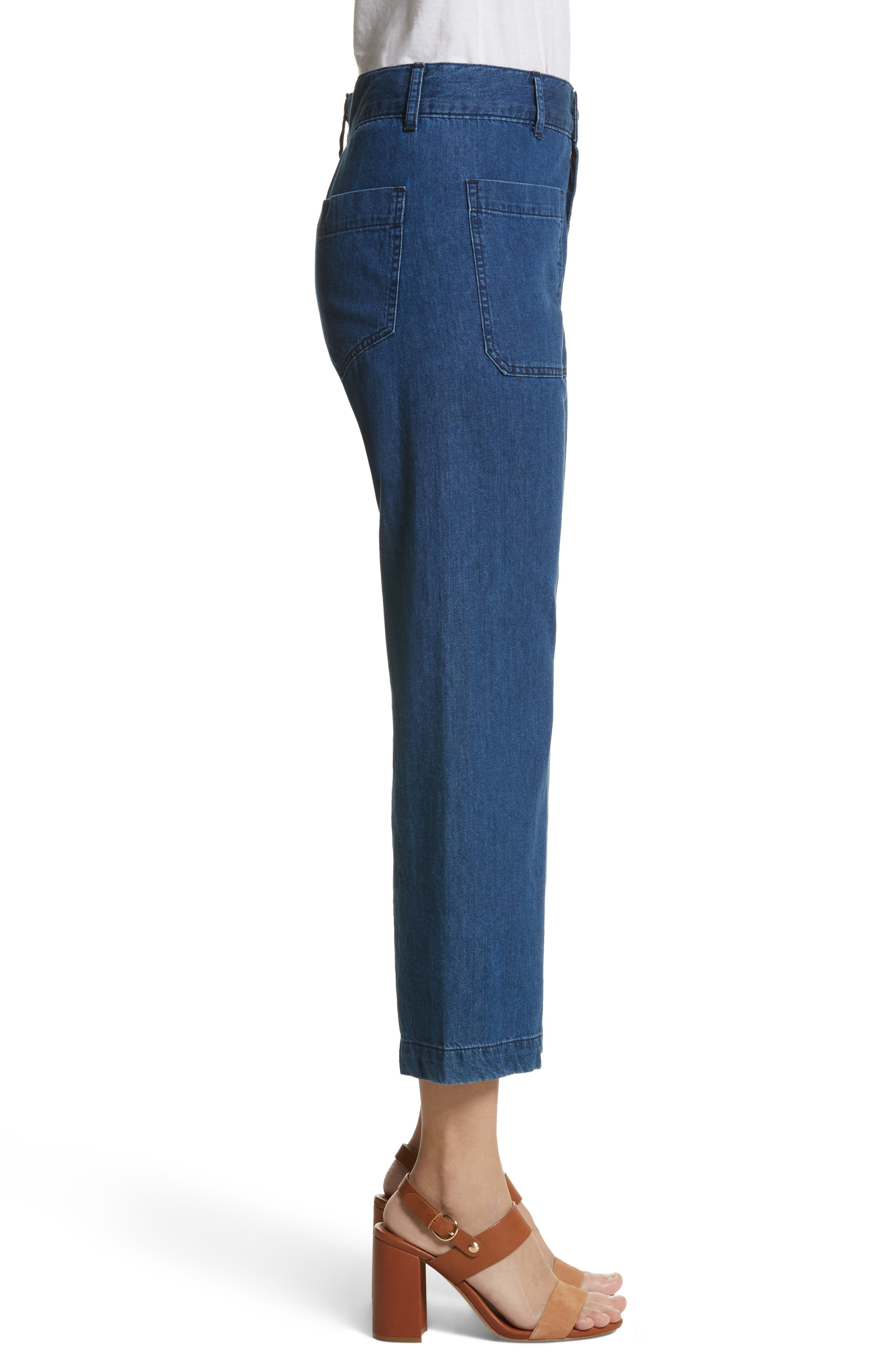 Alternate Image 3  - THE GREAT. The Slouch Sailor Jeans (Vibrant Blue)