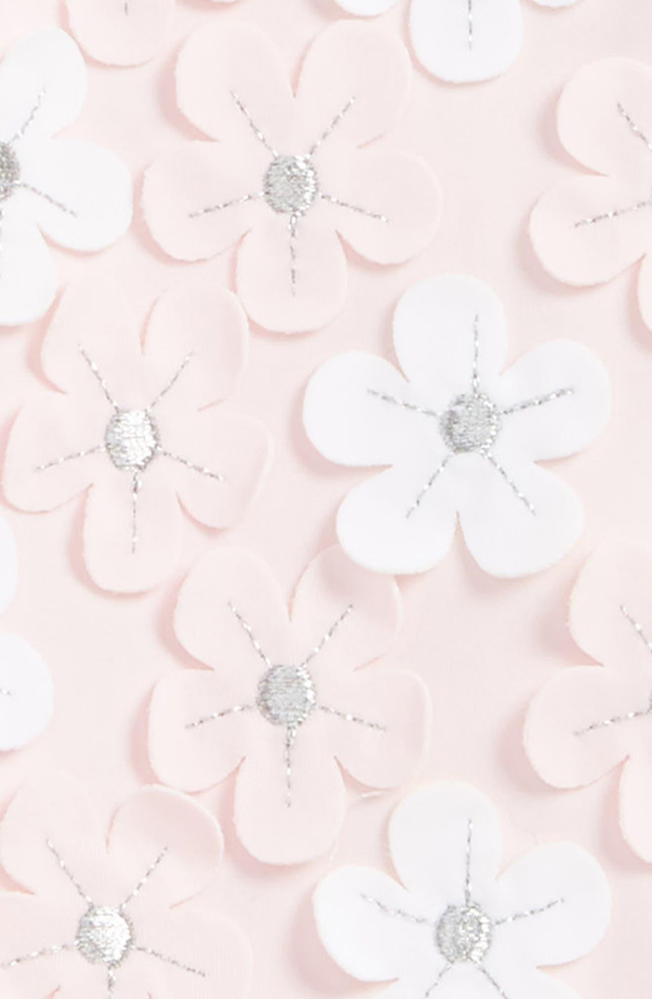 Alternate Image 2  - Little Me Floral Appliqué One-Piece Swimsuit (Baby Girls)