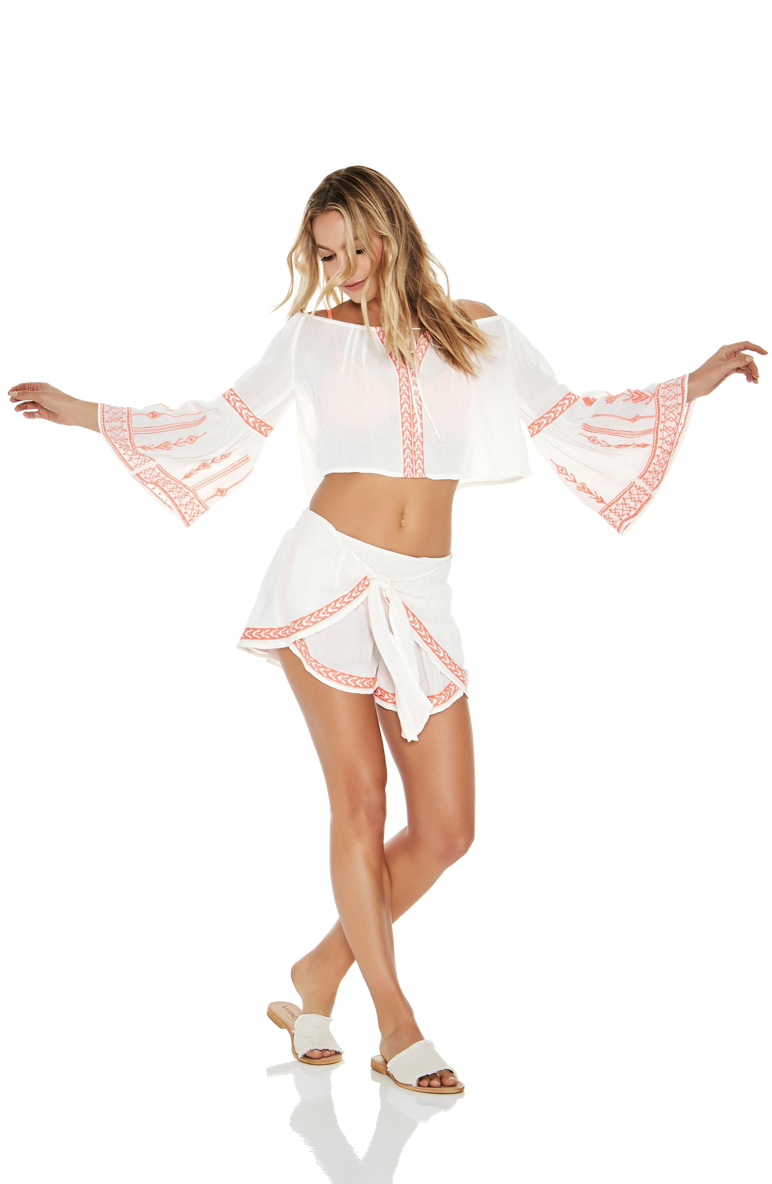 Crawford Cover-Up Top,                             Alternate thumbnail 4, color,                             Ivory