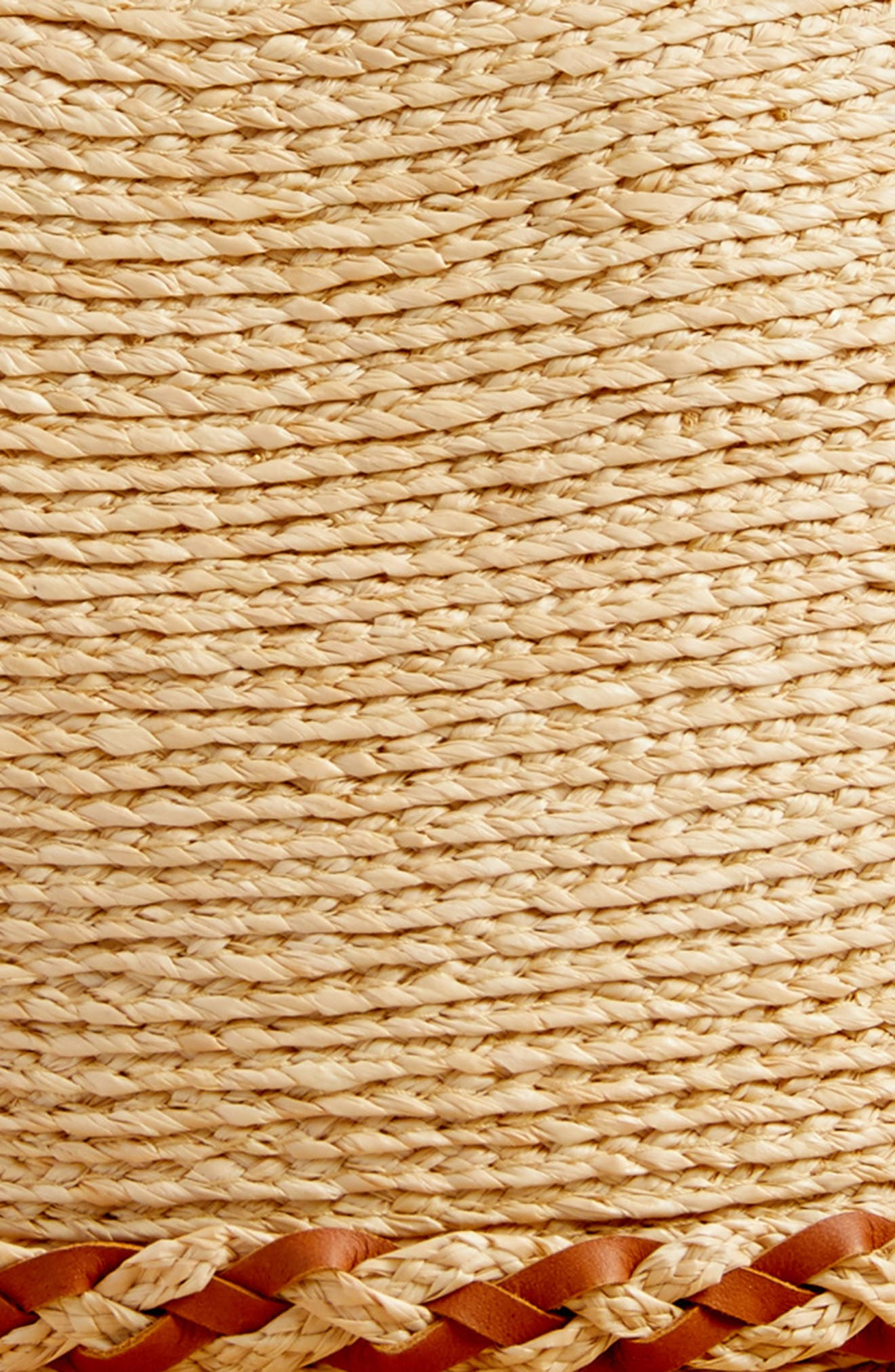 Raffia Packable Fedora,                             Alternate thumbnail 2, color,                             Natural/ Tan