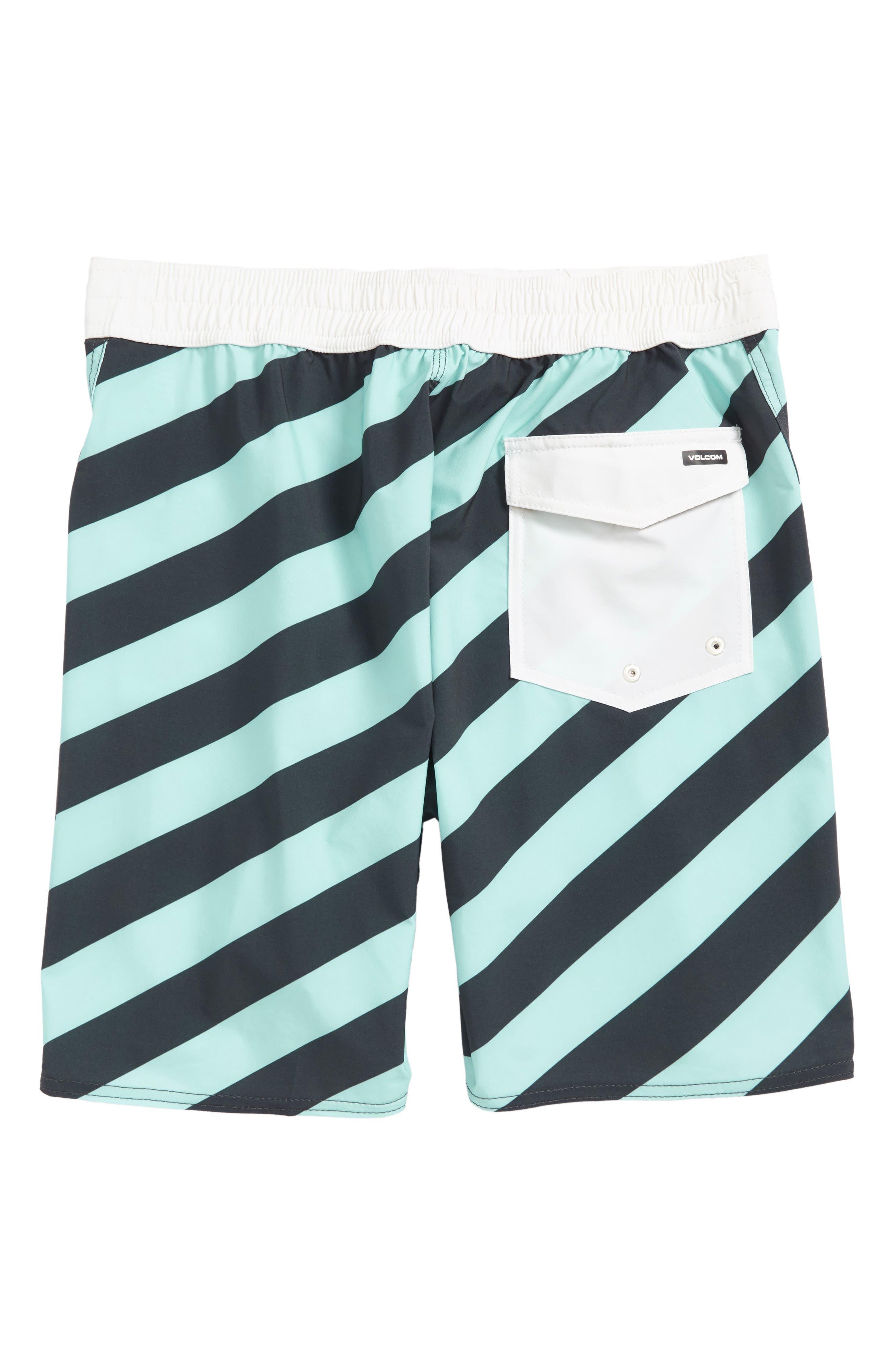 Alternate Image 2  - Volcom Stripey Swim Trunks (Big Boys)