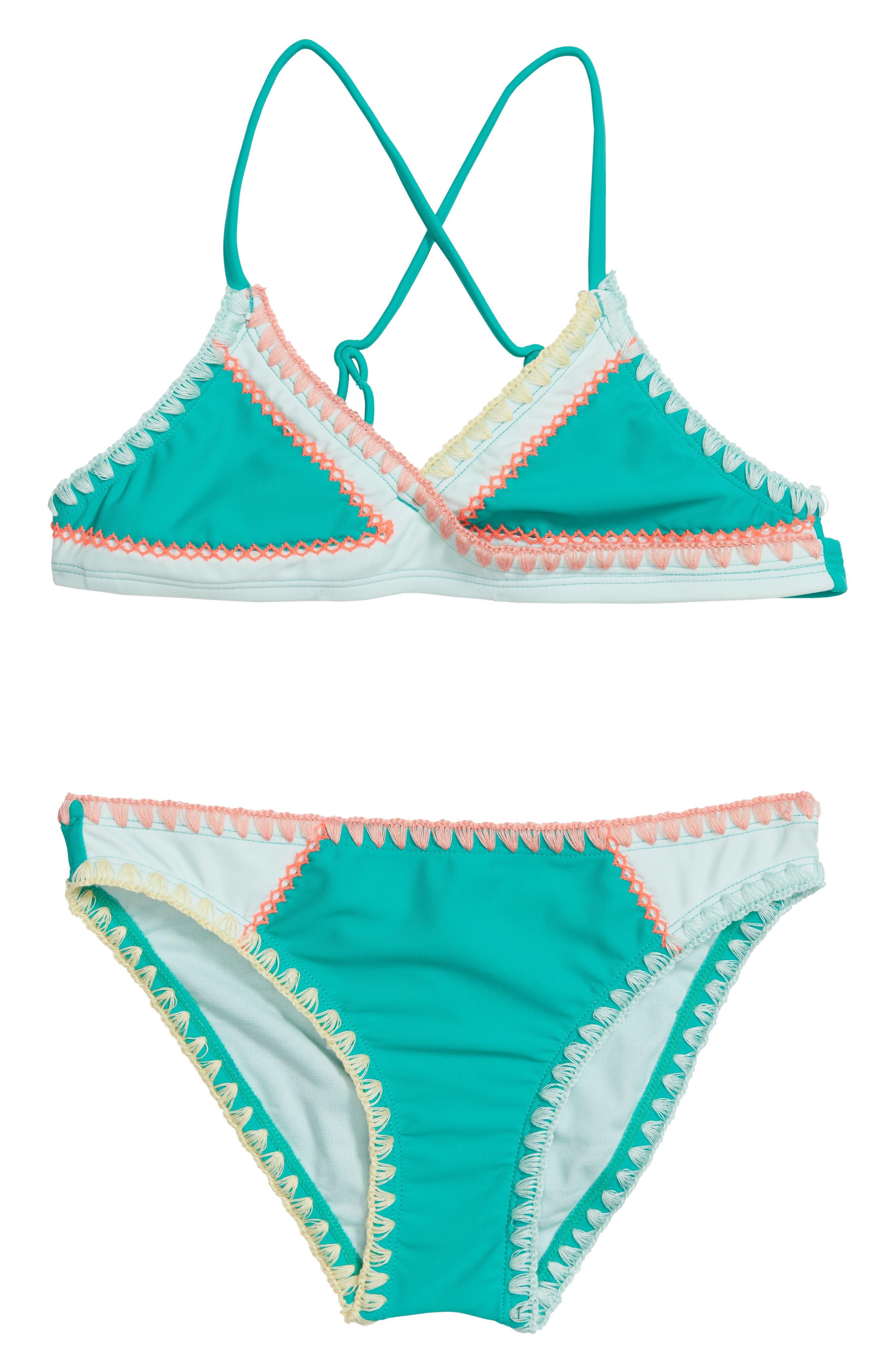Main Image - Hobie Keep The Piece Two-Piece Swimsuit (Big Girls)