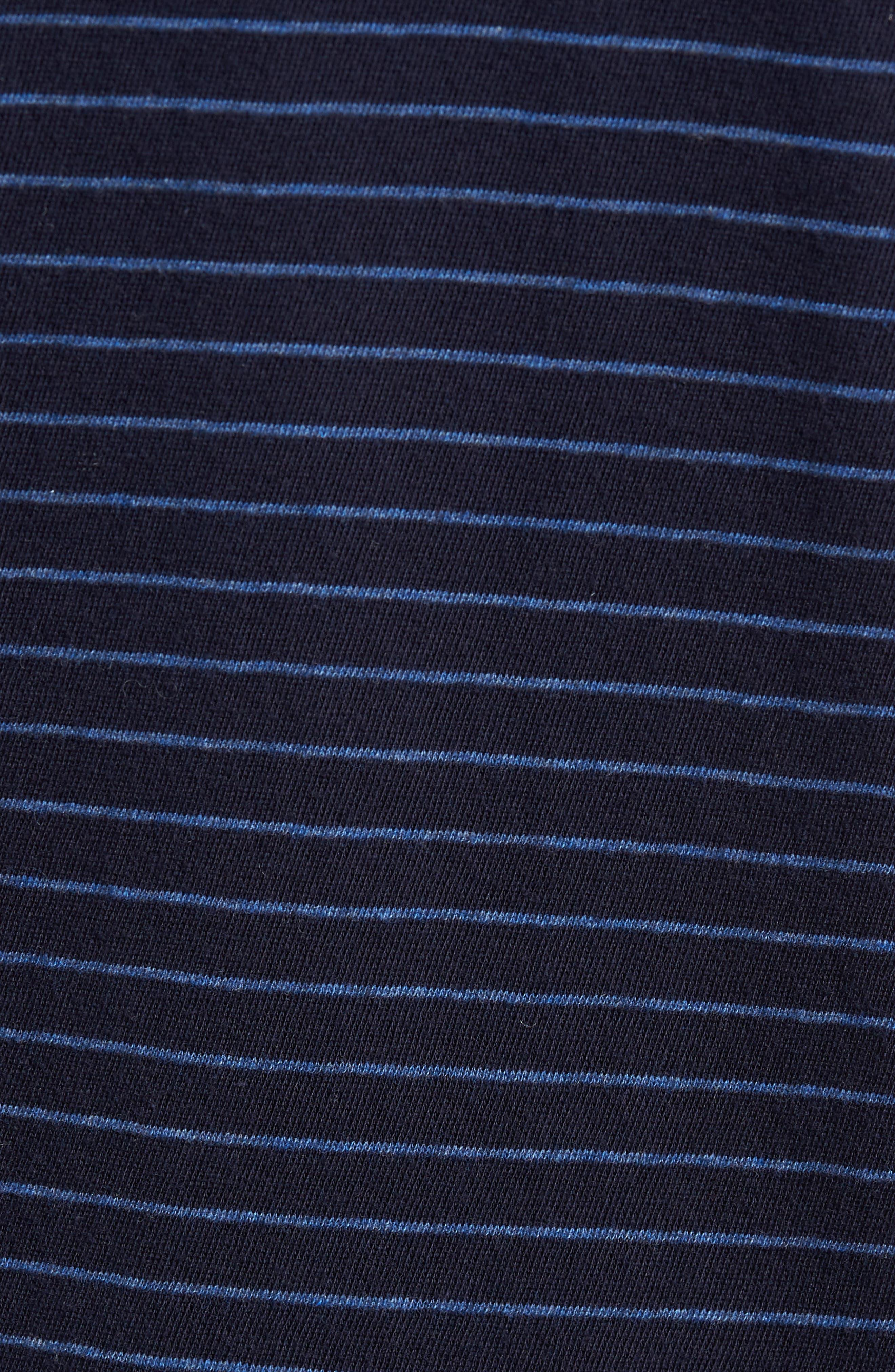 Raw Edge Stripe T-Shirt,                             Alternate thumbnail 5, color,                             New Coastal/ H Lake