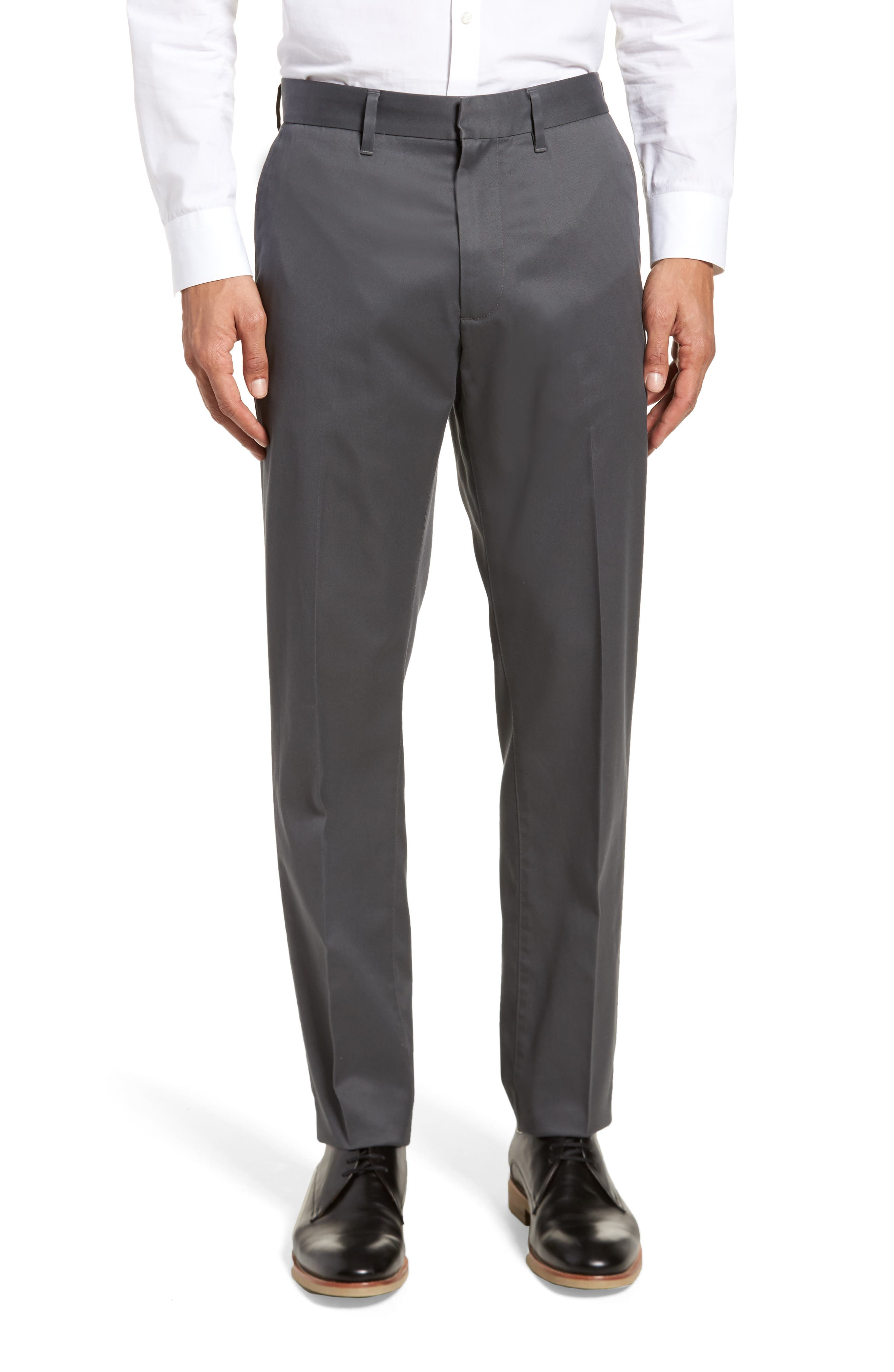 Athletic Fit Non-Iron Chinos,                         Main,                         color, Grey Gate