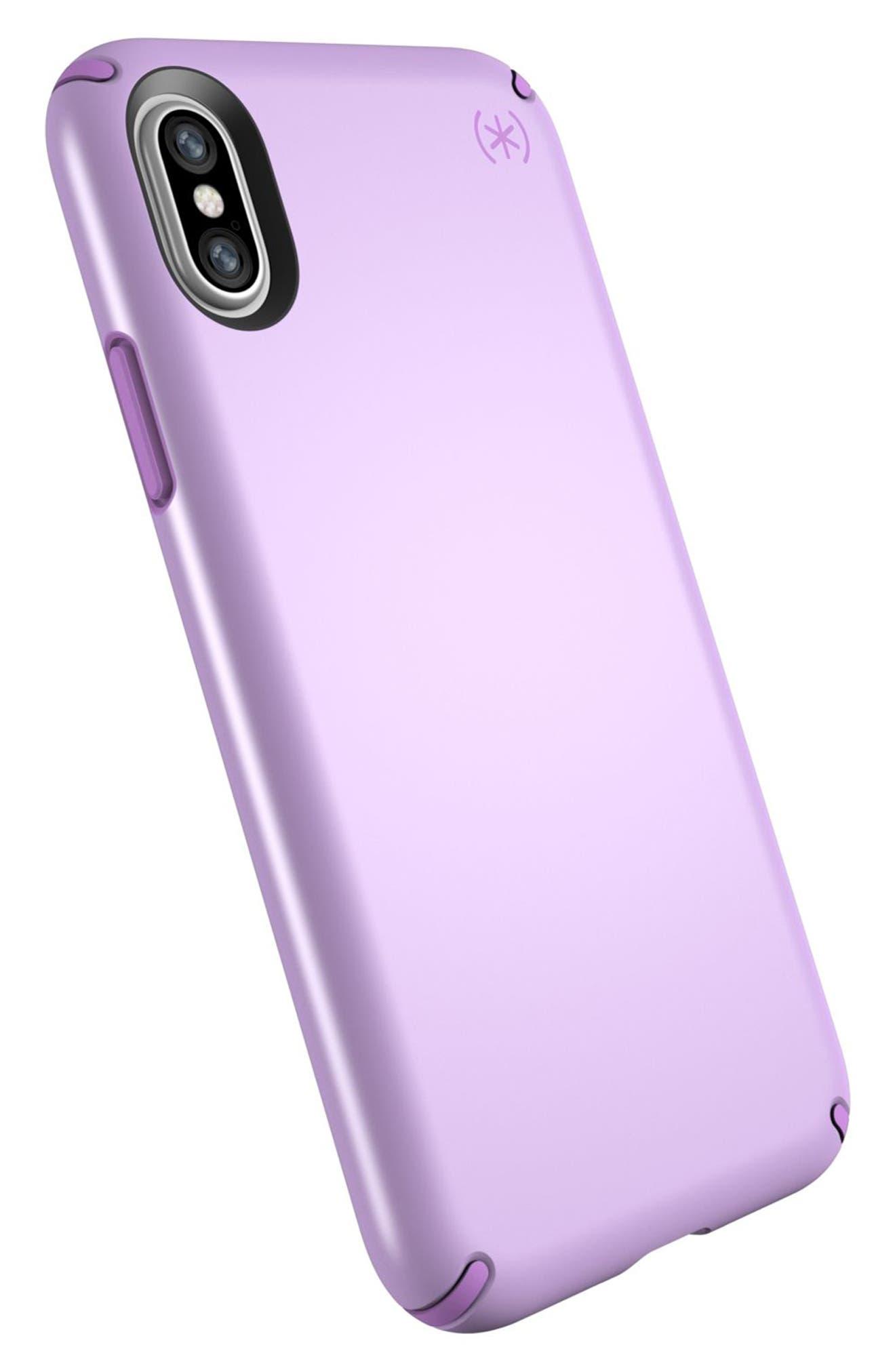 iPhone X Case,                             Alternate thumbnail 4, color,                             Taro Purple Metallic/ Purple