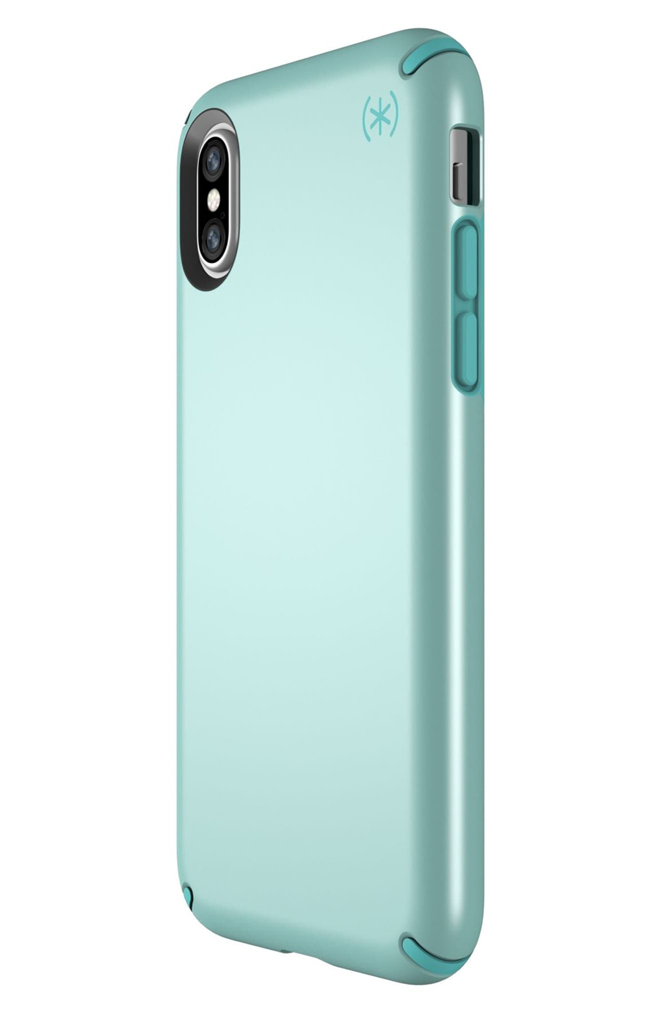 iPhone X Case,                             Alternate thumbnail 3, color,                             Peppermint Green / Teal