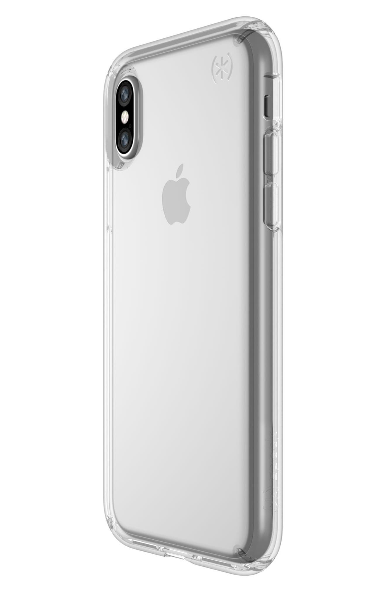 Transparent iPhone X Case,                             Alternate thumbnail 3, color,                             Clear/ Clear