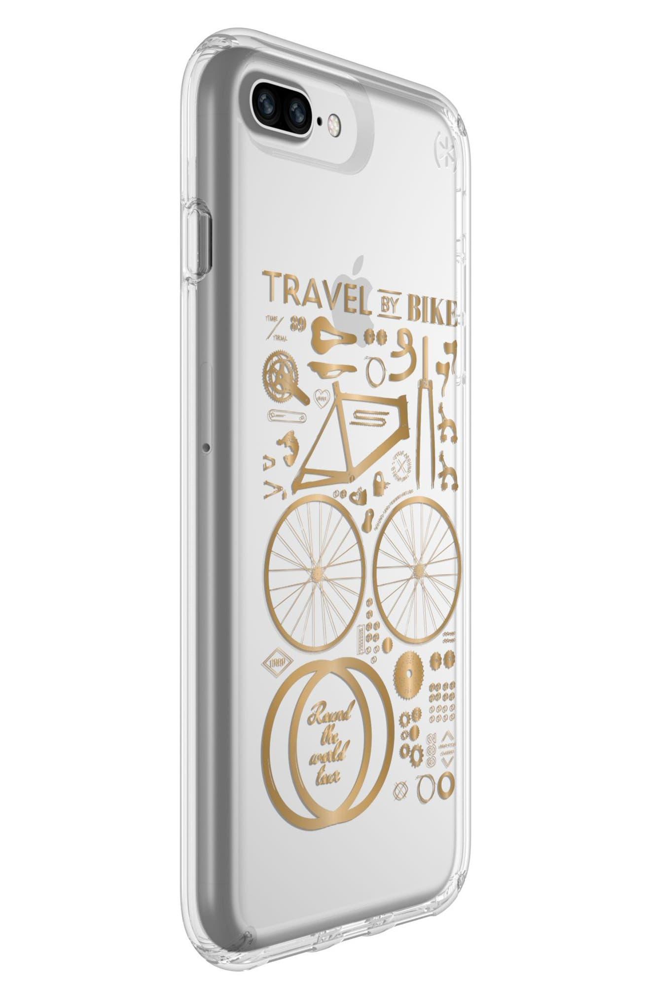 iPhone 6 Plus/6S Plus/7 Plus/8 Plus Case,                             Alternate thumbnail 2, color,                             Citybike Metallic Gold/ Clear