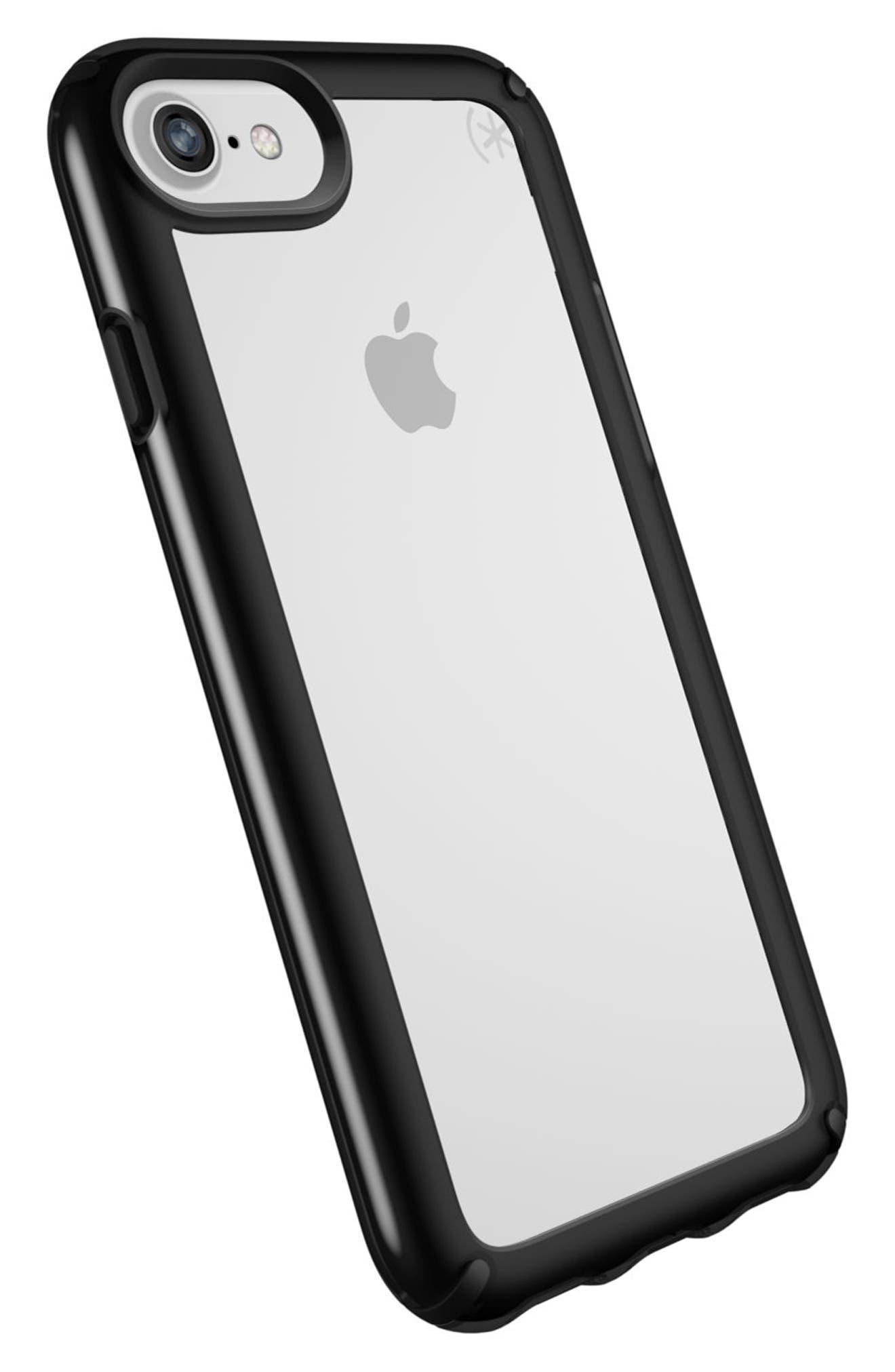 Transparent iPhone 6/6s/7/8 Case,                             Alternate thumbnail 8, color,                             Clear/ Black