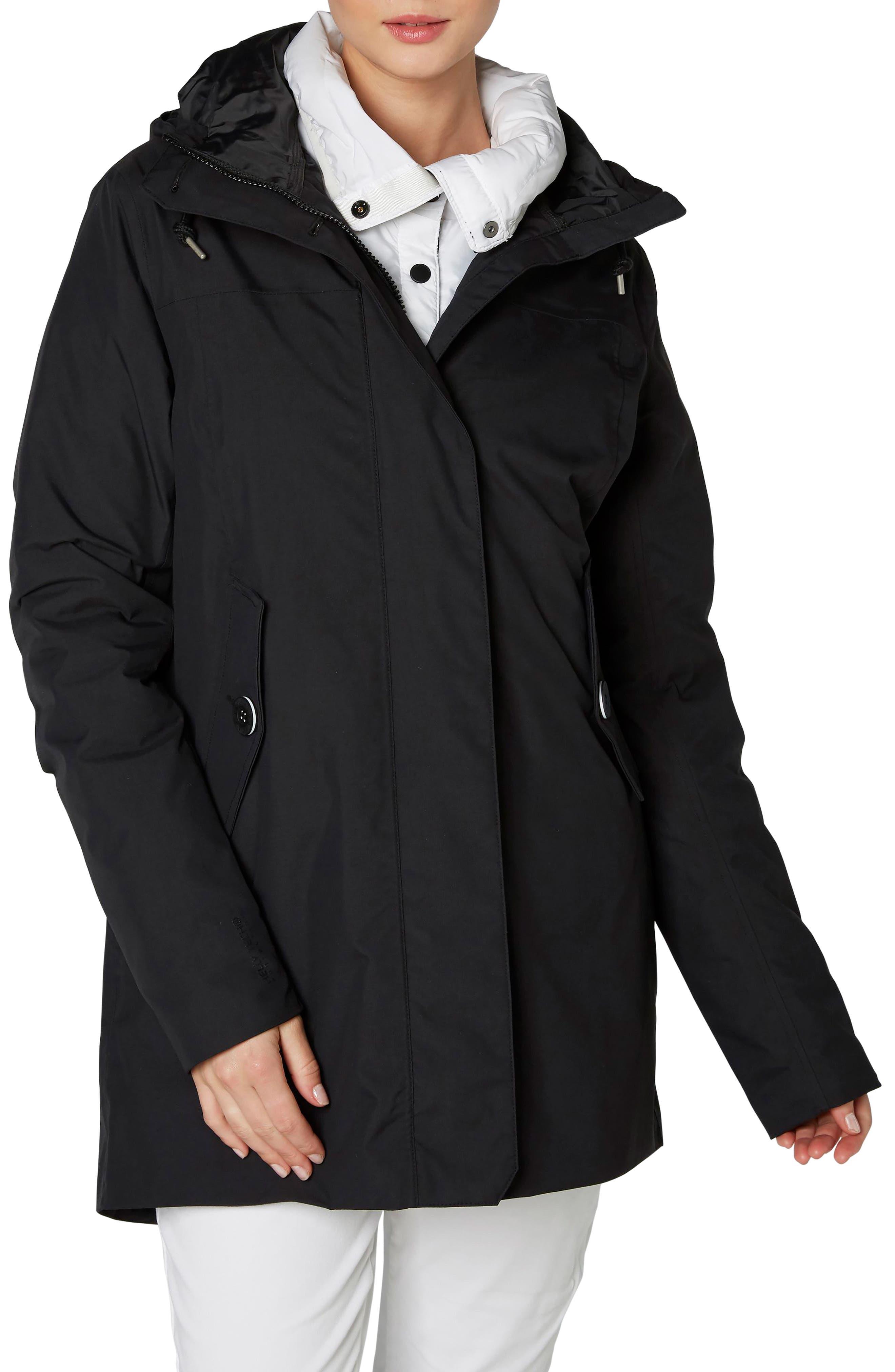 Waterford Weatherproof Hooded Parka,                             Main thumbnail 1, color,                             Black