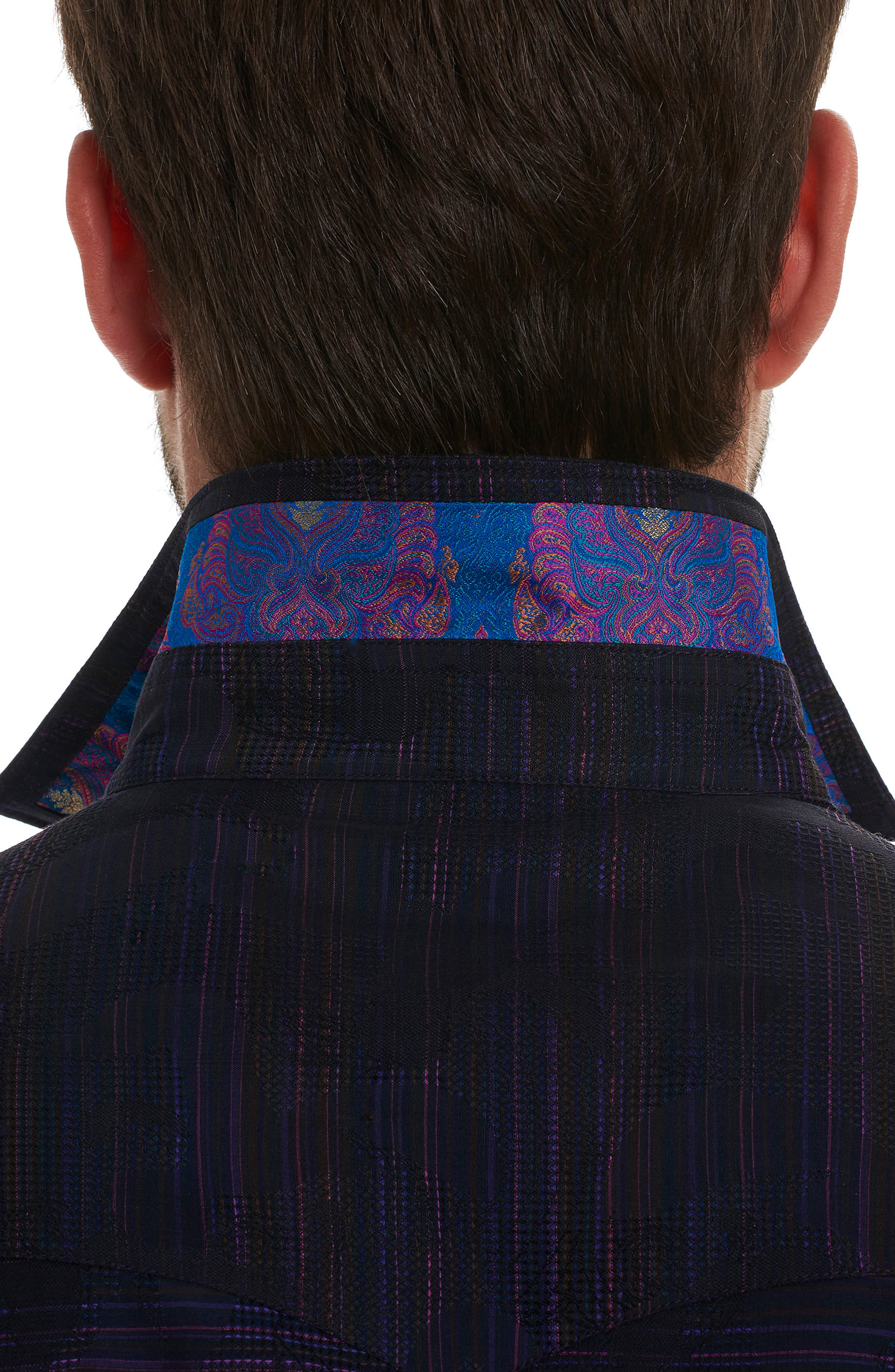 El Rey Classic Fit Embroidered Sport Shirt,                             Alternate thumbnail 3, color,                             Purple