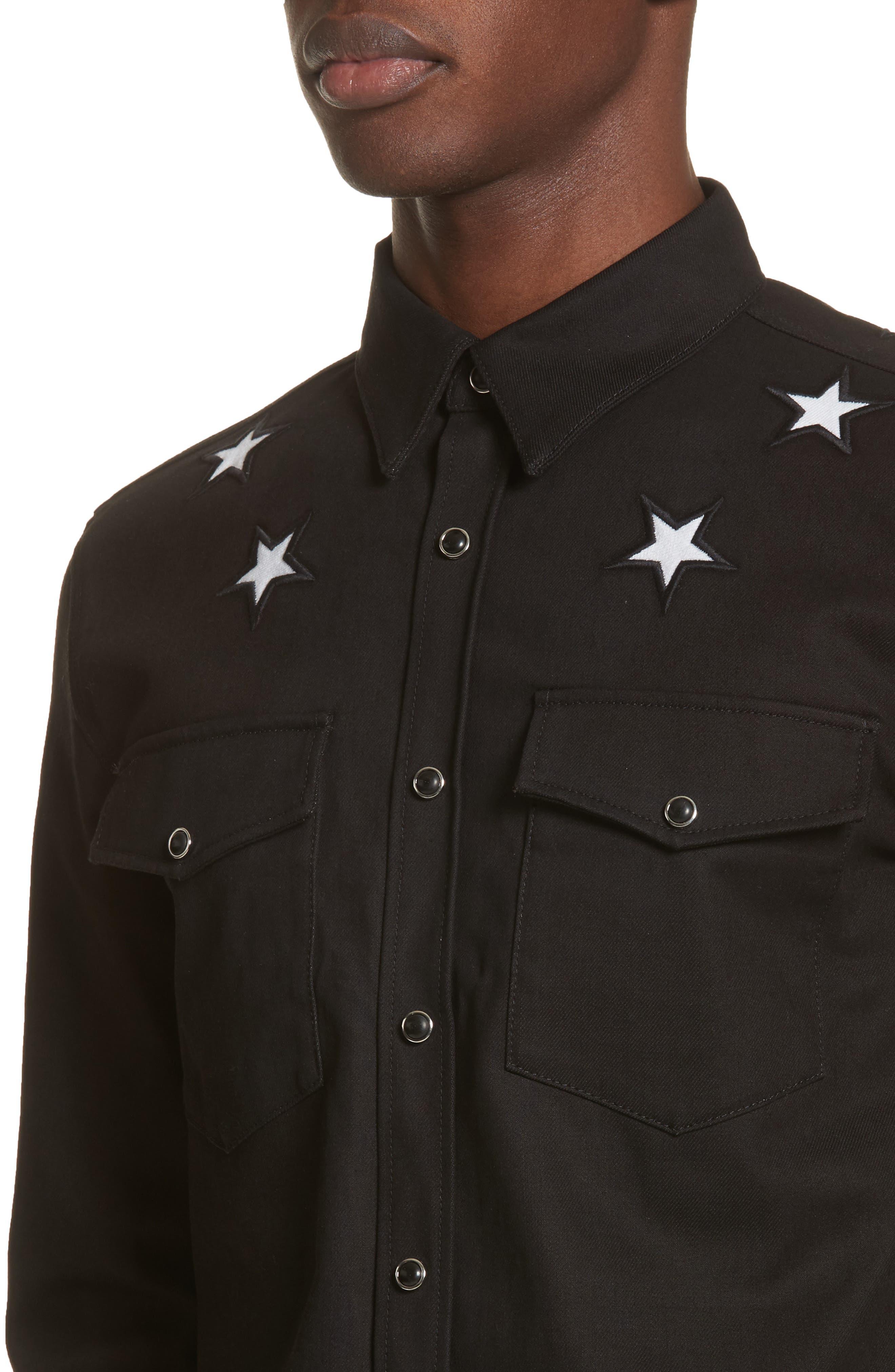 Denim Shirt,                             Alternate thumbnail 2, color,                             Black